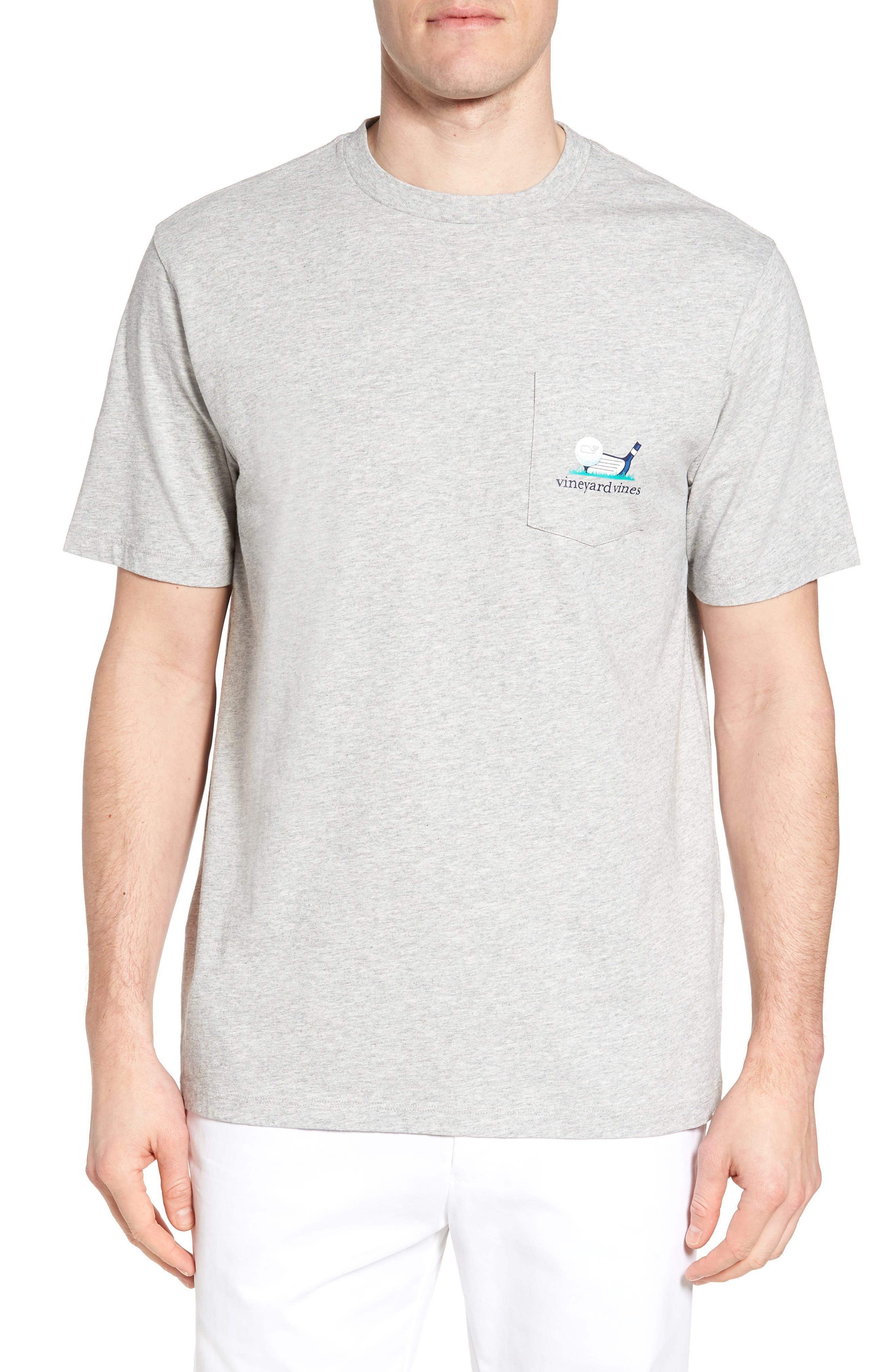Regular Fit Golf T-Shirt,                             Main thumbnail 1, color,                             Gray Heather