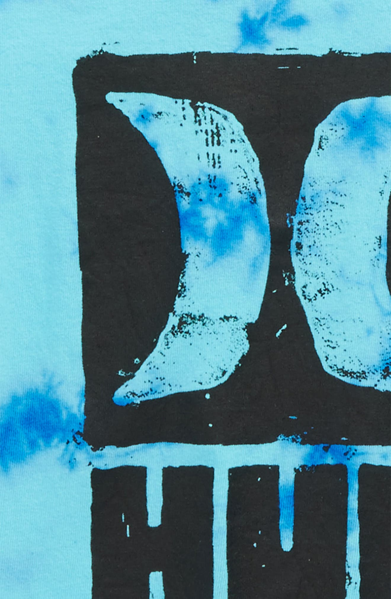 Grungy Graphic T-Shirt,                             Alternate thumbnail 2, color,                             Fountain Blue