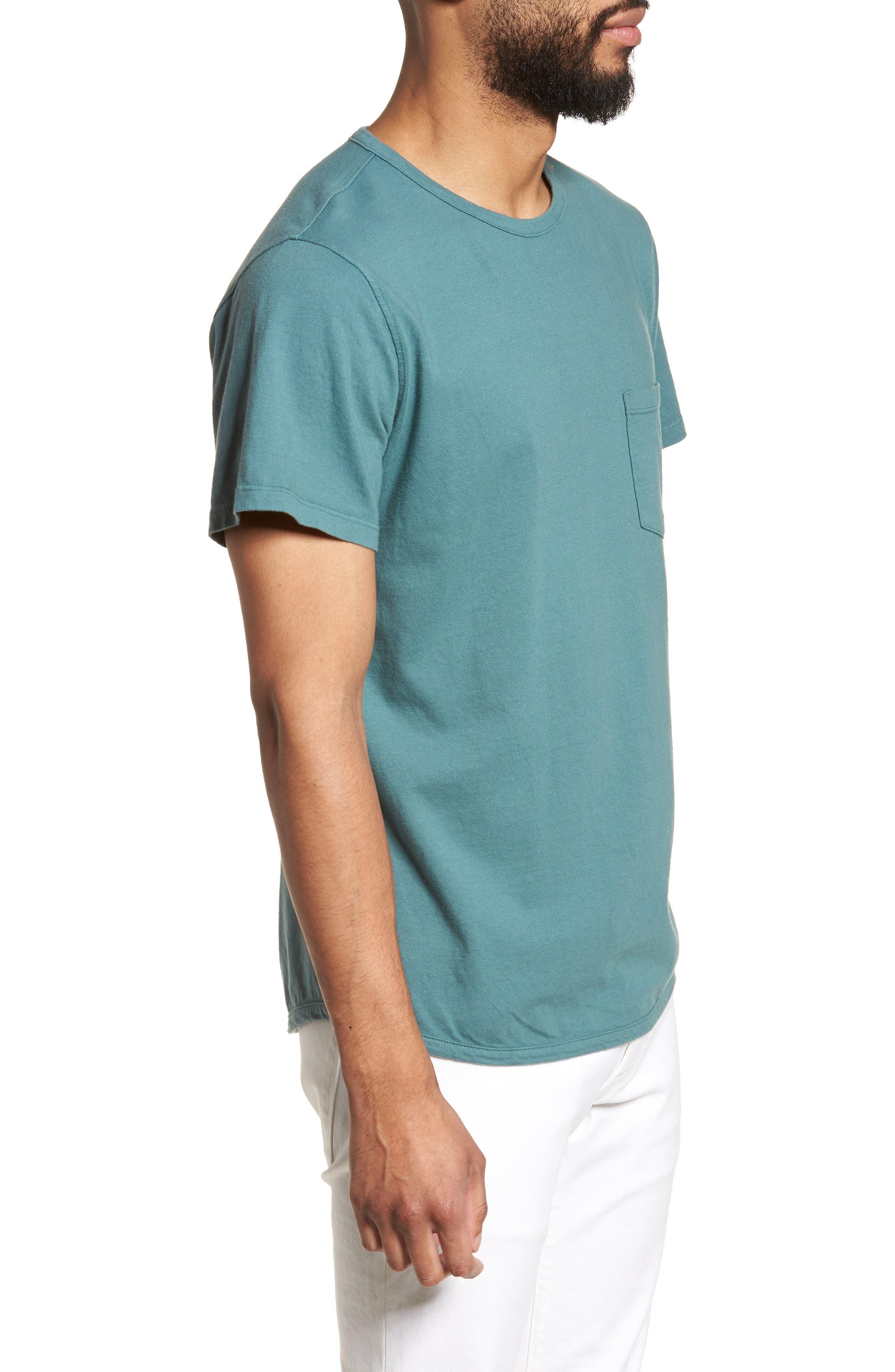 Pocket T-Shirt,                             Alternate thumbnail 3, color,                             Aqua