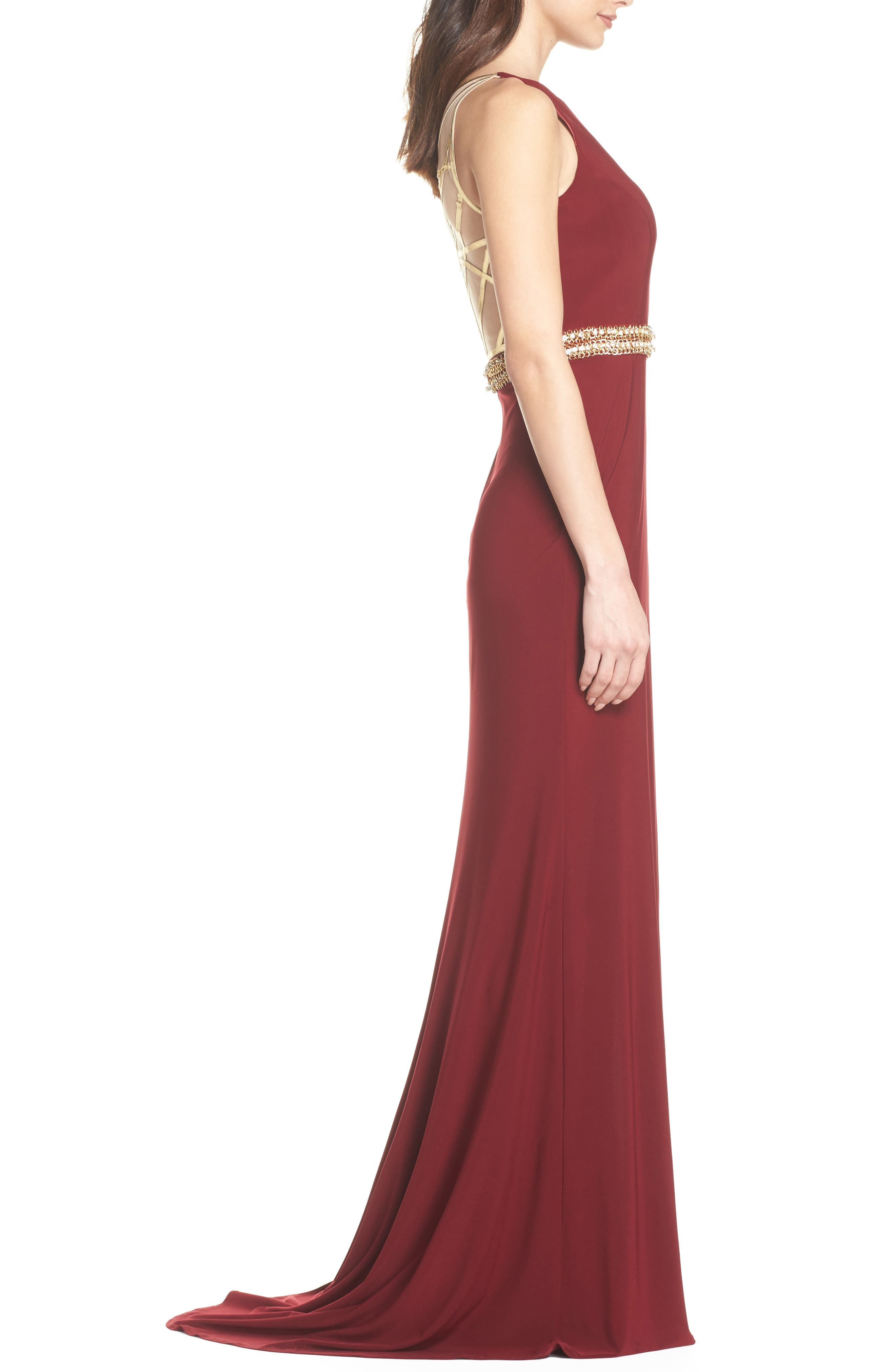 Alternate Image 3  - Mac Duggal Embellished Waist Gown