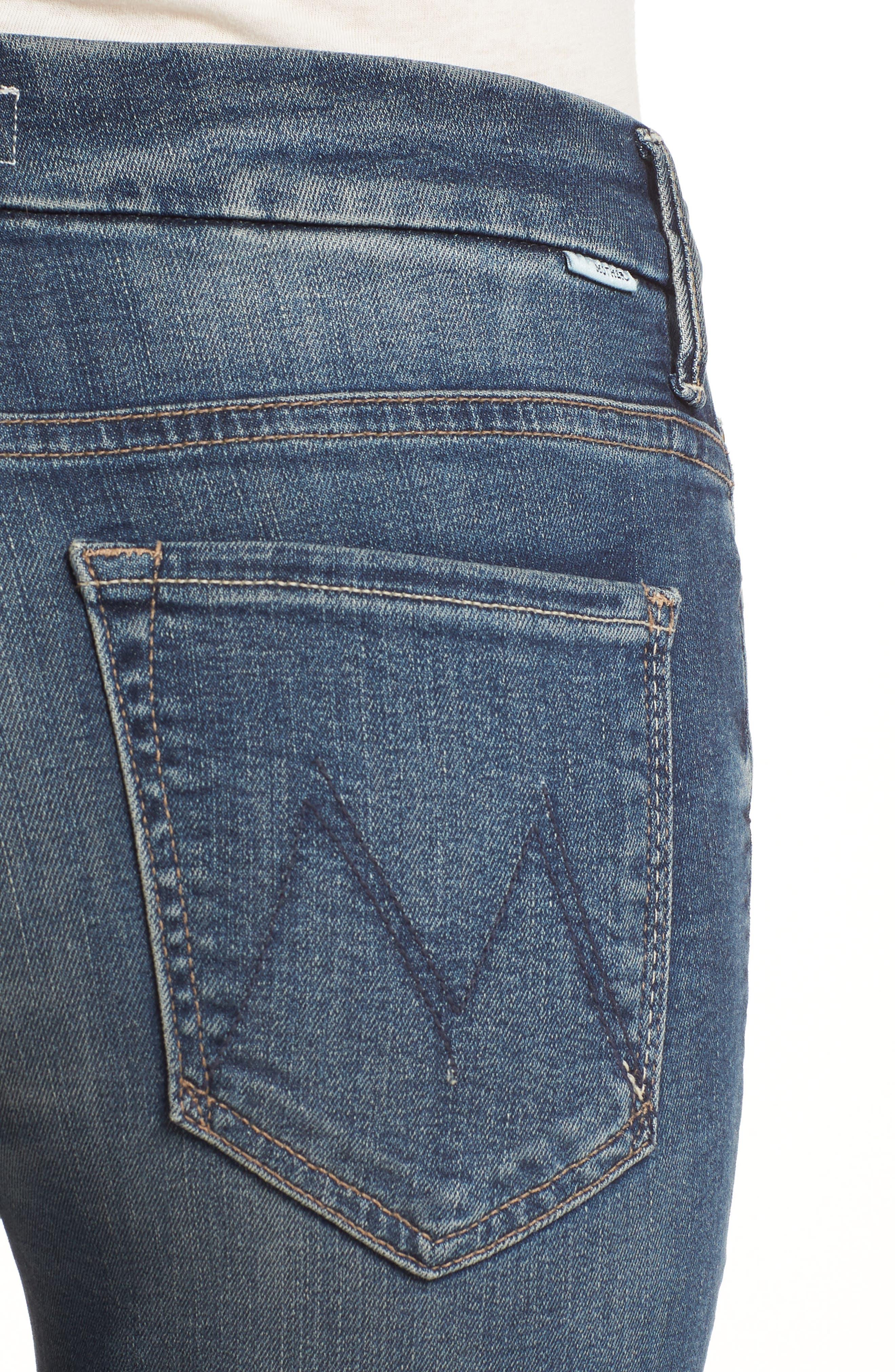 The Looker High Waist Crop Skinny Jeans,                             Alternate thumbnail 4, color,                             Bake Sale Brawl