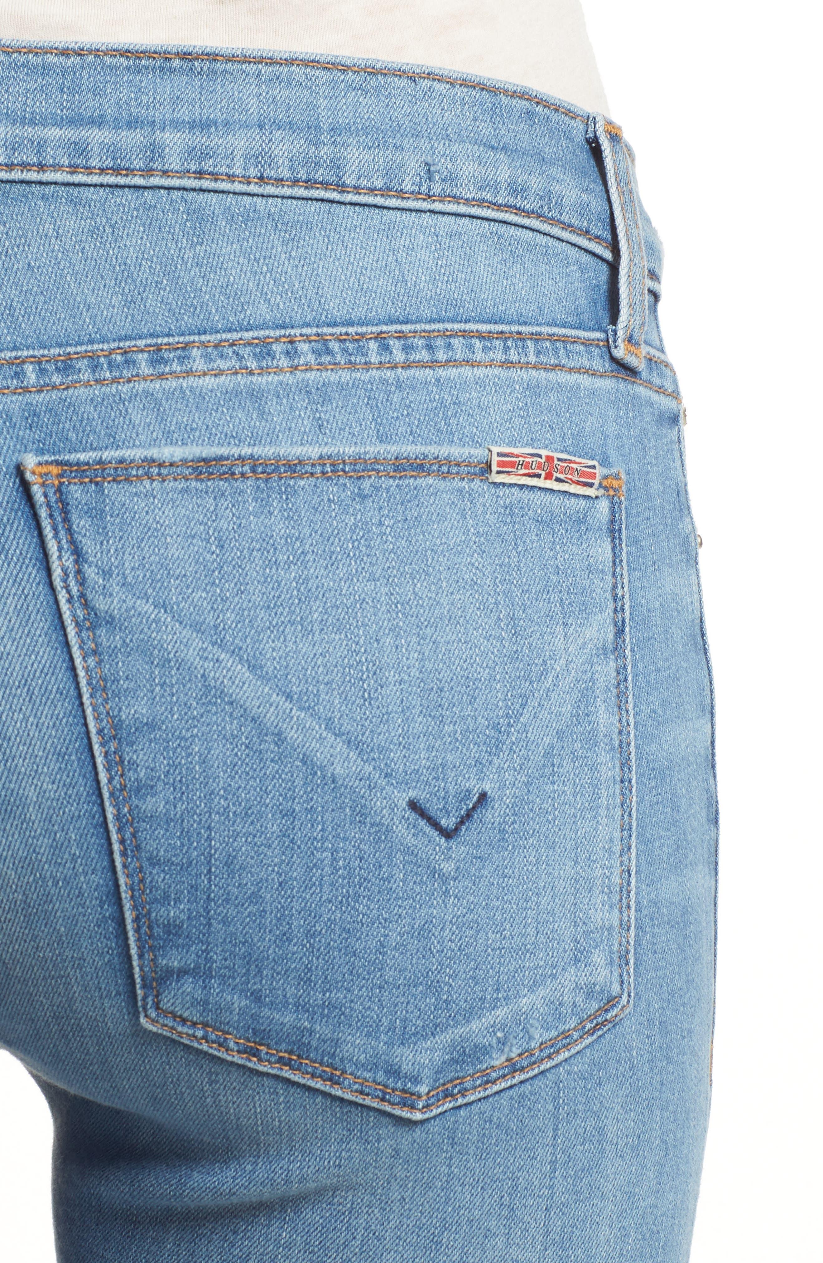 Krista Ankle Super Skinny Jeans,                             Alternate thumbnail 4, color,                             No Tears