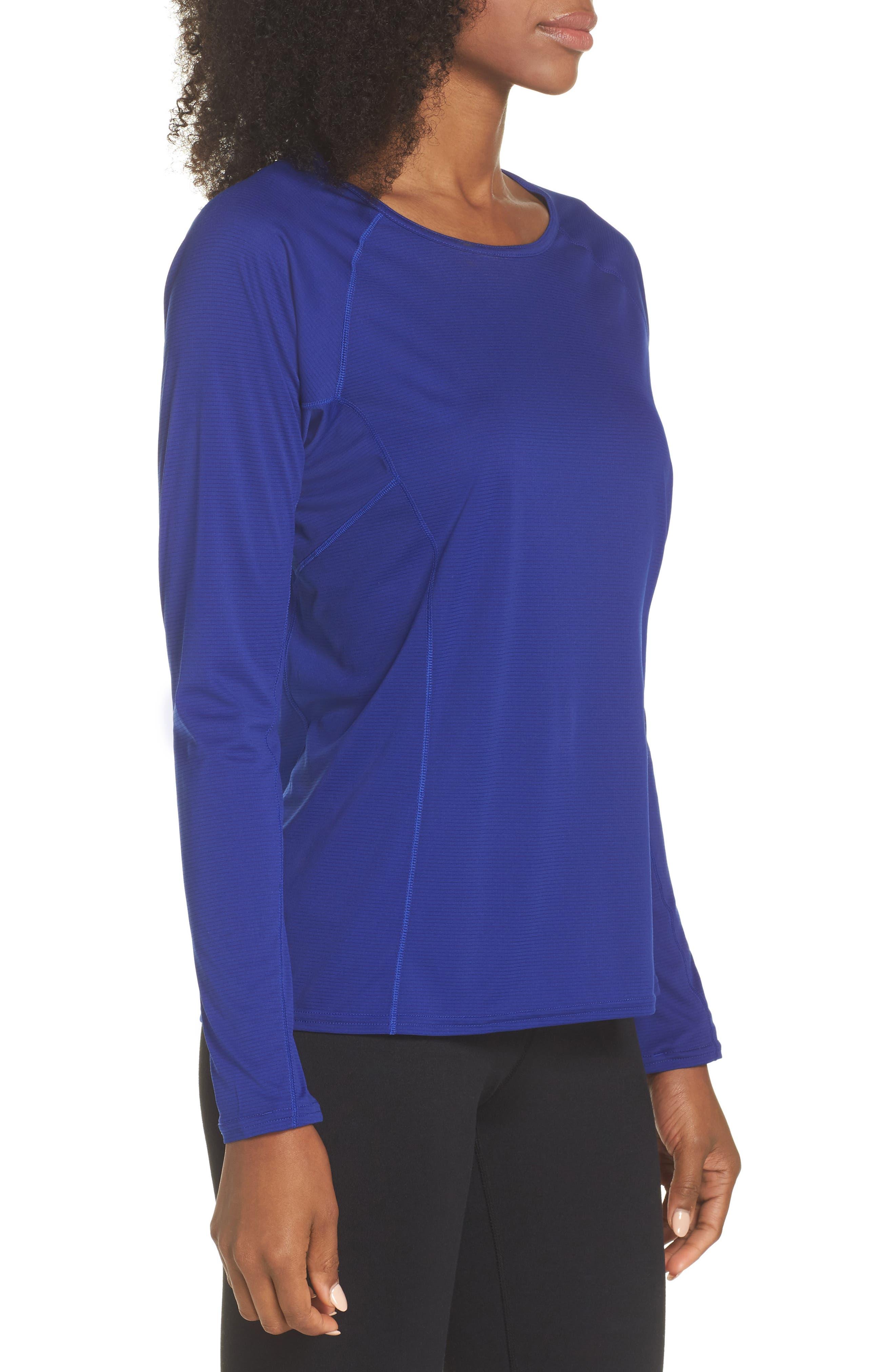 Lightweight Capilene<sup>®</sup> Long-Sleeve Tee,                             Alternate thumbnail 3, color,                             Cobalt Blue