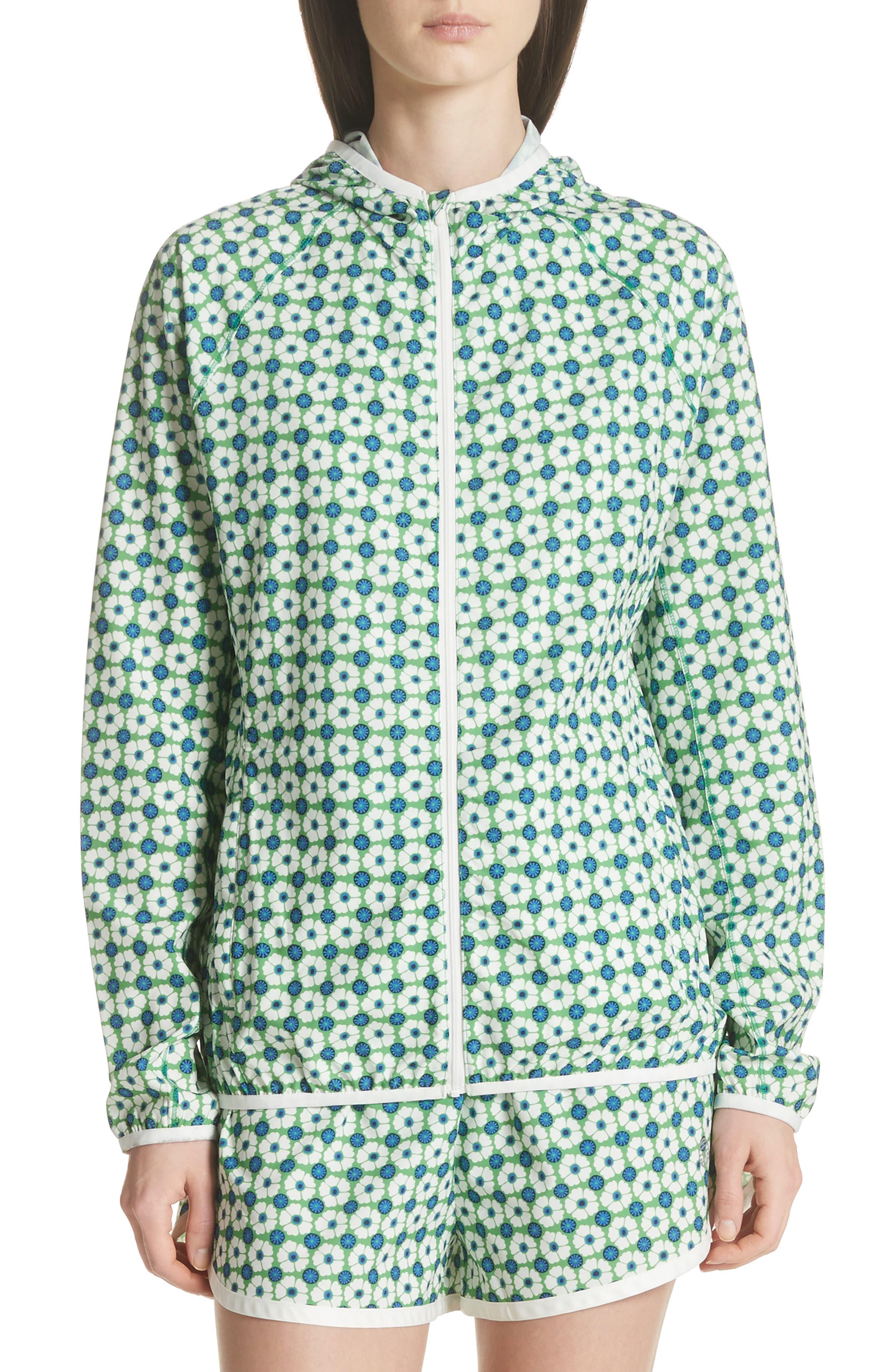 Print Packable Jacket,                         Main,                         color, Scarf Blue Floral