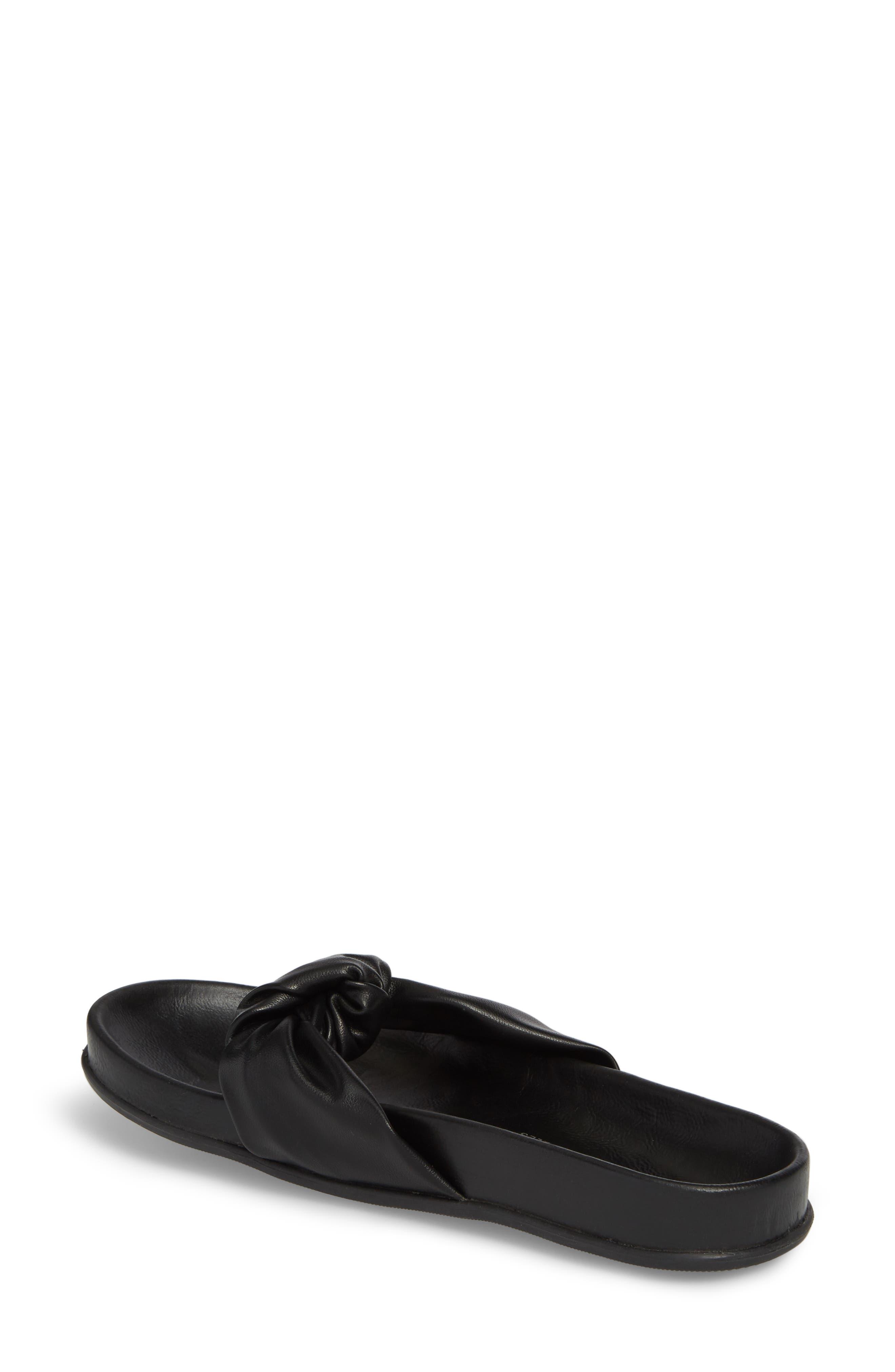 Glaze Bow Sandal,                             Alternate thumbnail 2, color,                             Black