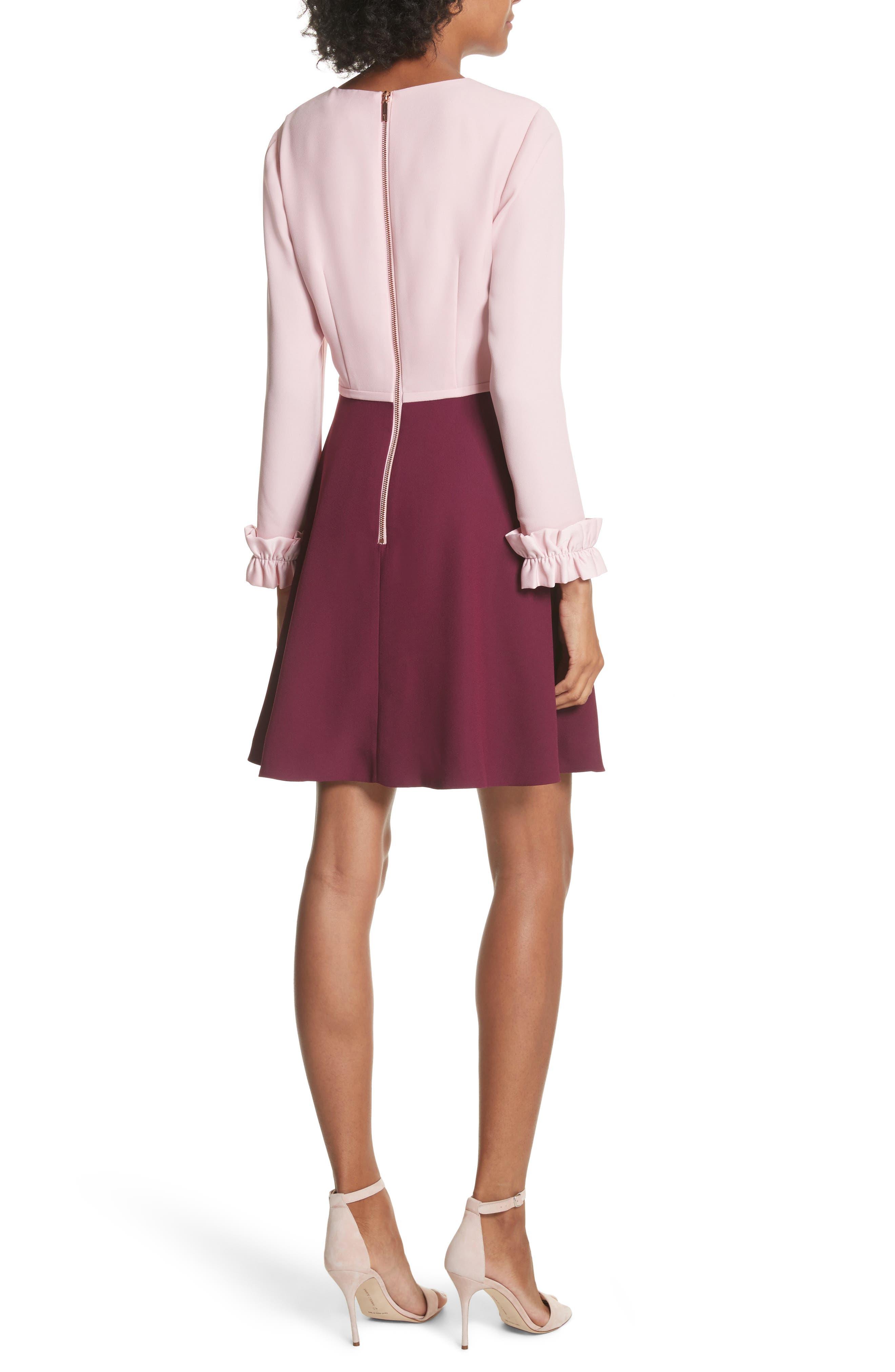 Steyla Ruffle Dress,                             Alternate thumbnail 2, color,                             Dusky Pink