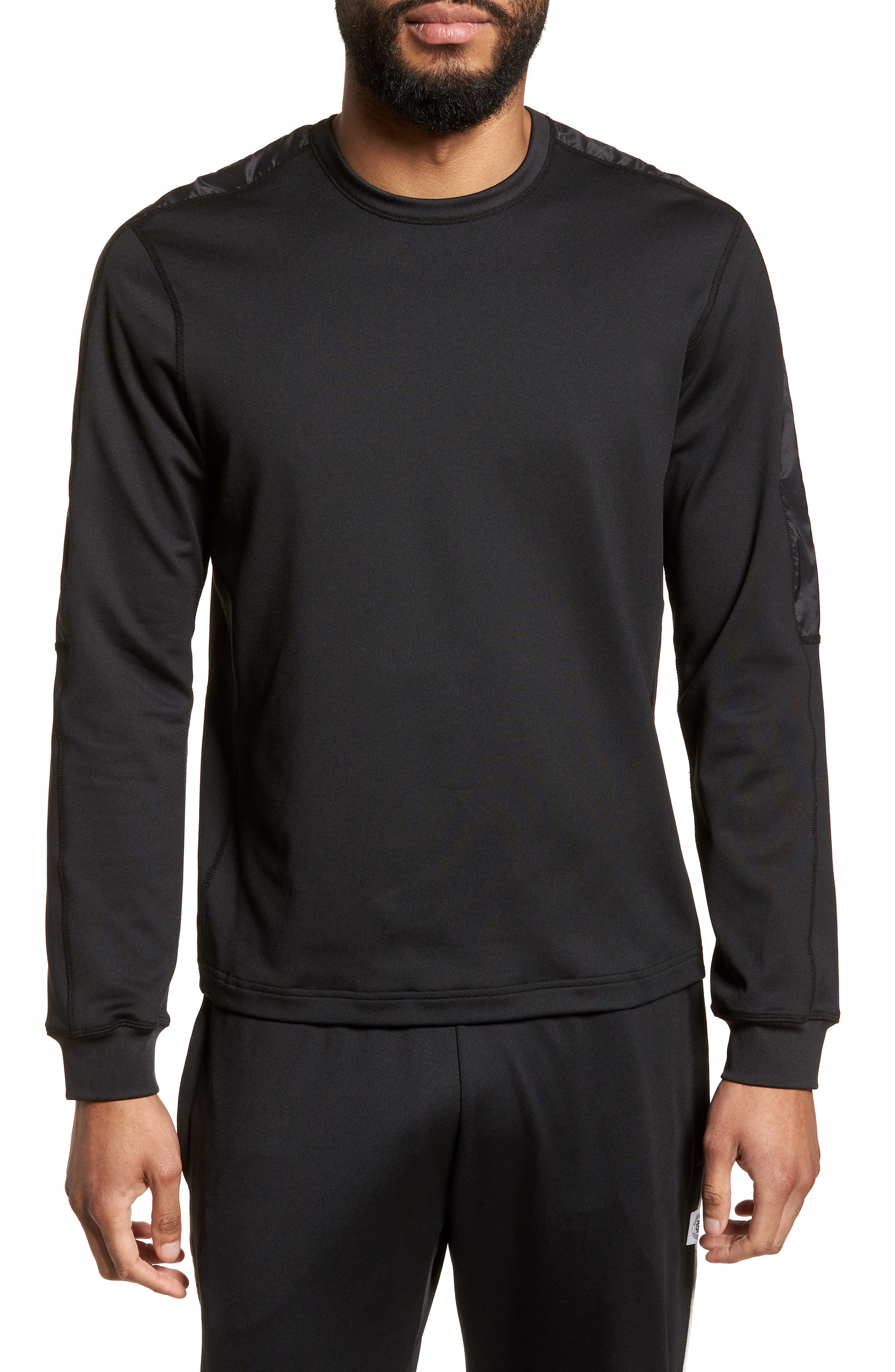 Hybrid Coolmax Crewneck Shirt,                             Main thumbnail 1, color,                             Black