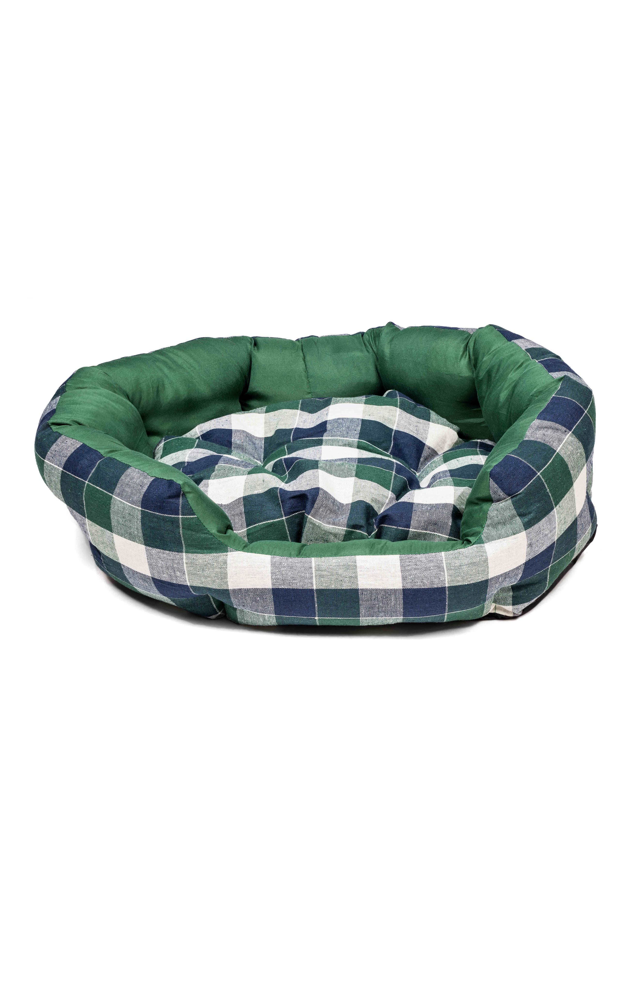 Hasley Round Pet Bed,                         Main,                         color, Green