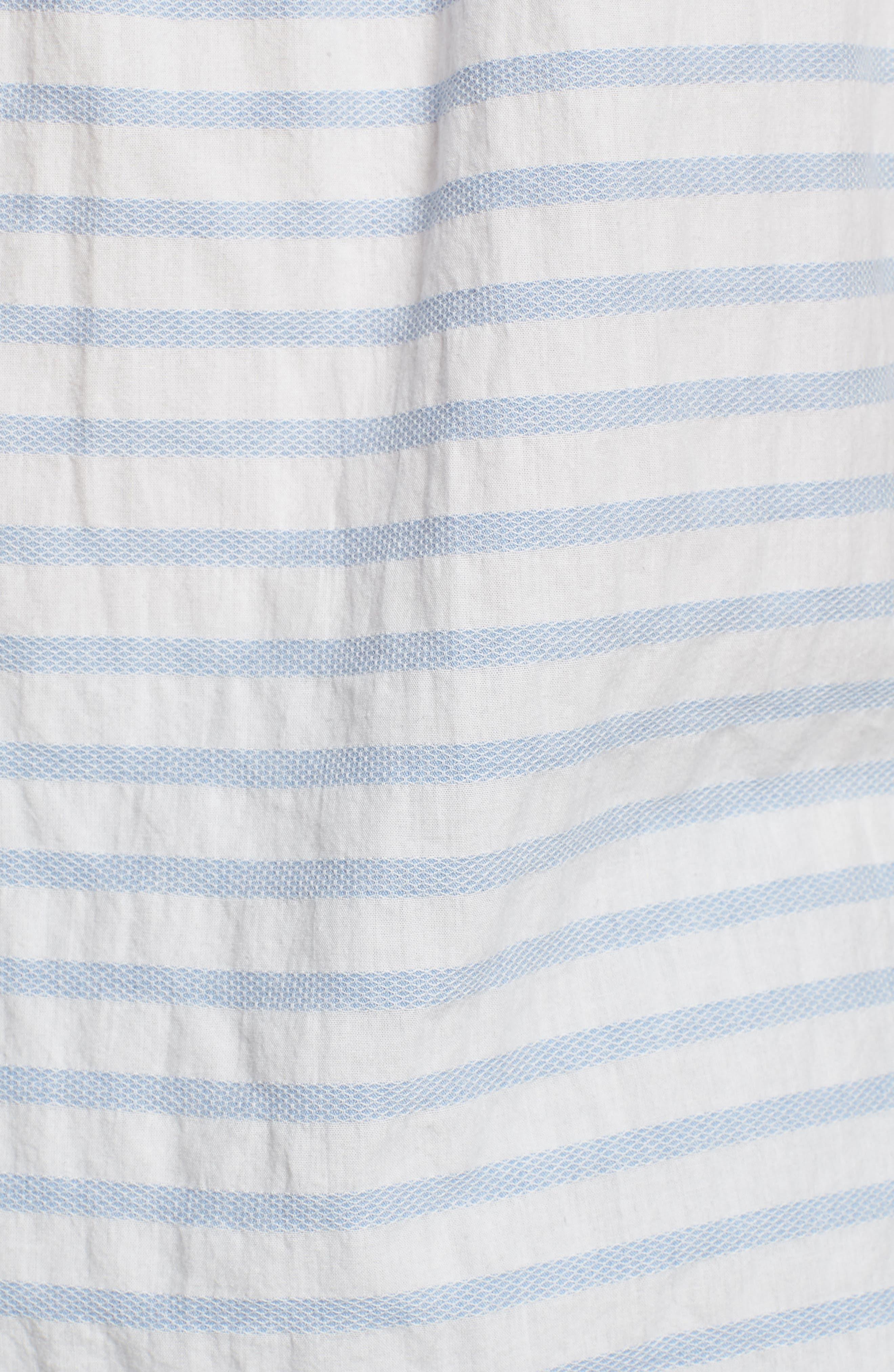 Truman Slim Fit Stripe Sport Shirt,                             Alternate thumbnail 5, color,                             White/ Blue