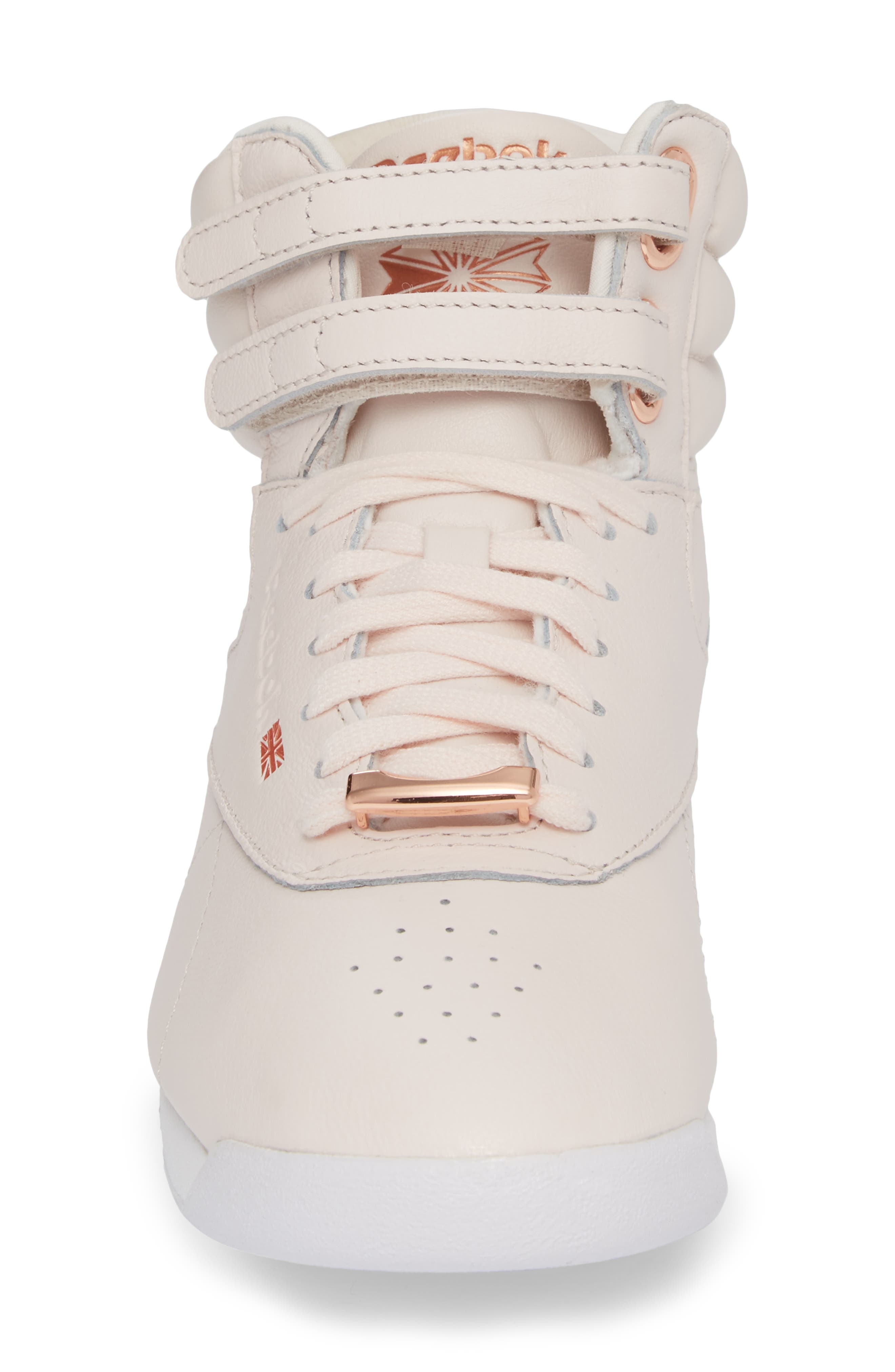 Freestyle Hi Muted Sneaker,                             Alternate thumbnail 4, color,                             Pale Pink/ White/ Cool Shadow