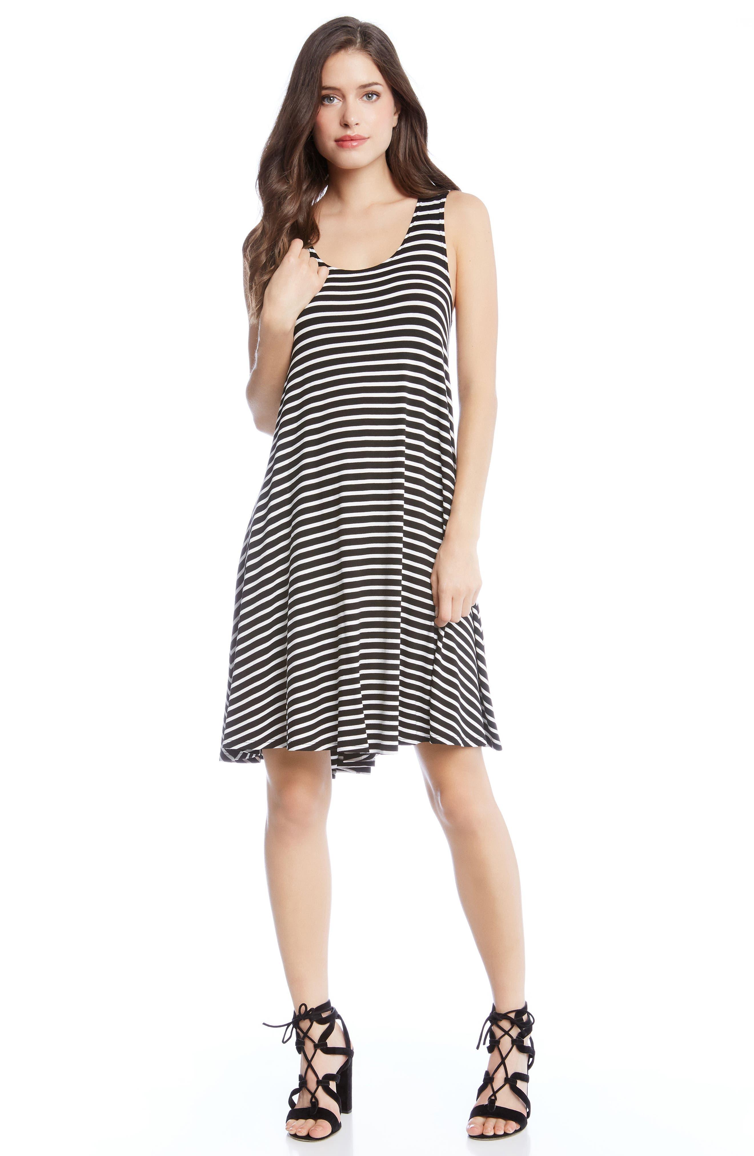 Stripe A-Line Dress,                             Alternate thumbnail 3, color,                             Stripe