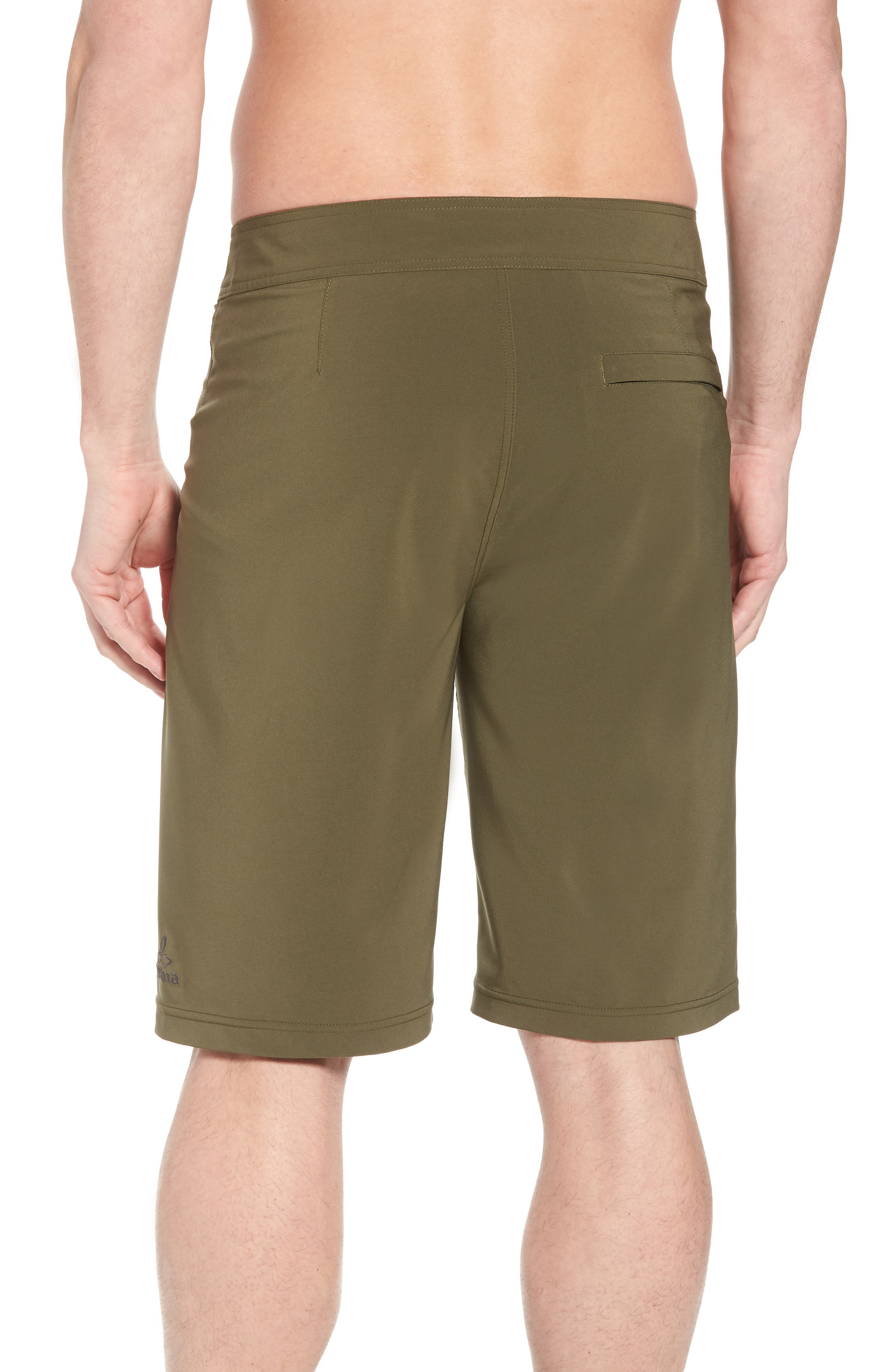 'Sediment' Stretch Board Shorts,                             Alternate thumbnail 2, color,                             Cargo Green