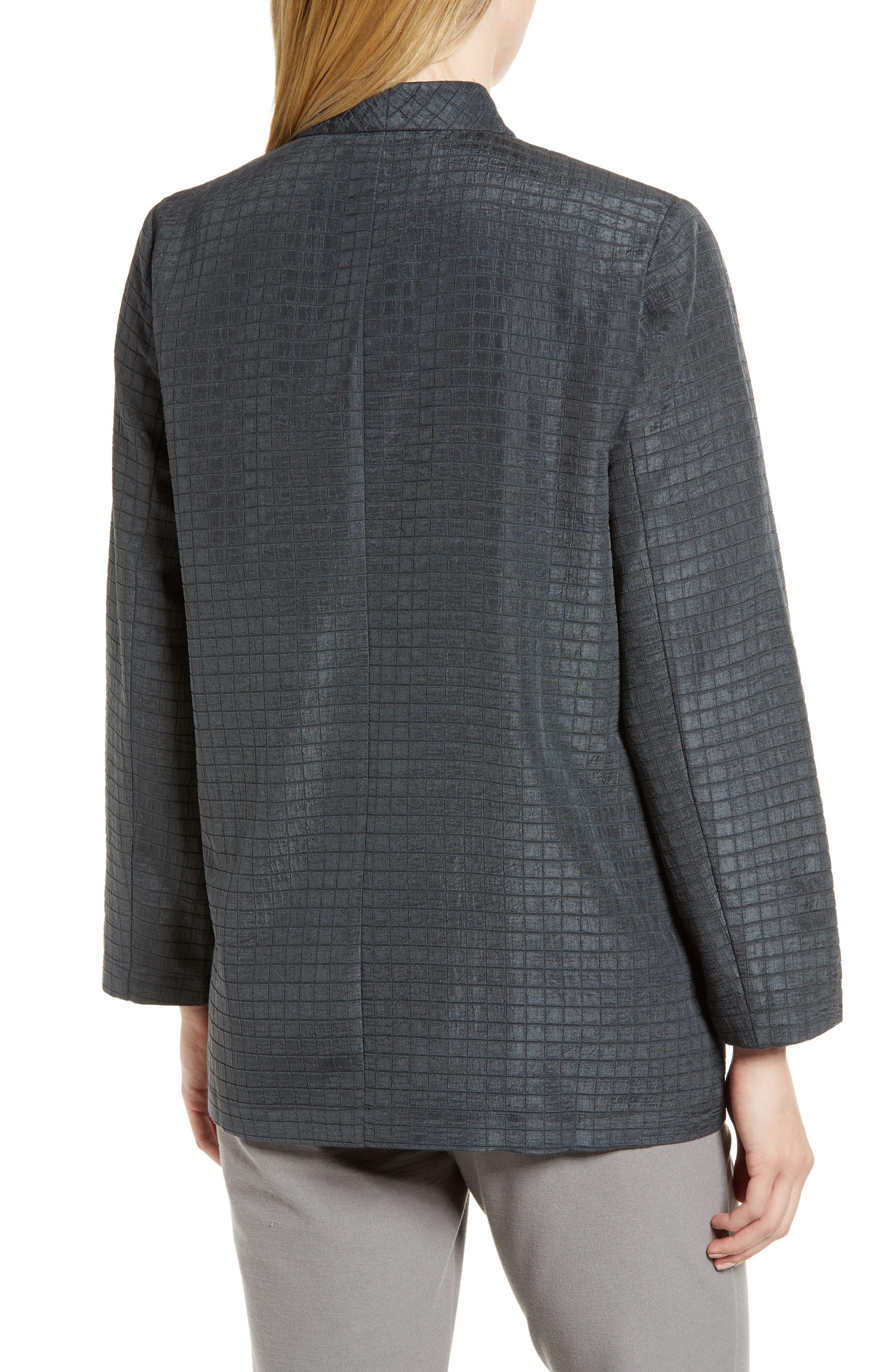 Silk Blend Kimono Jacket,                             Alternate thumbnail 2, color,                             Graphite