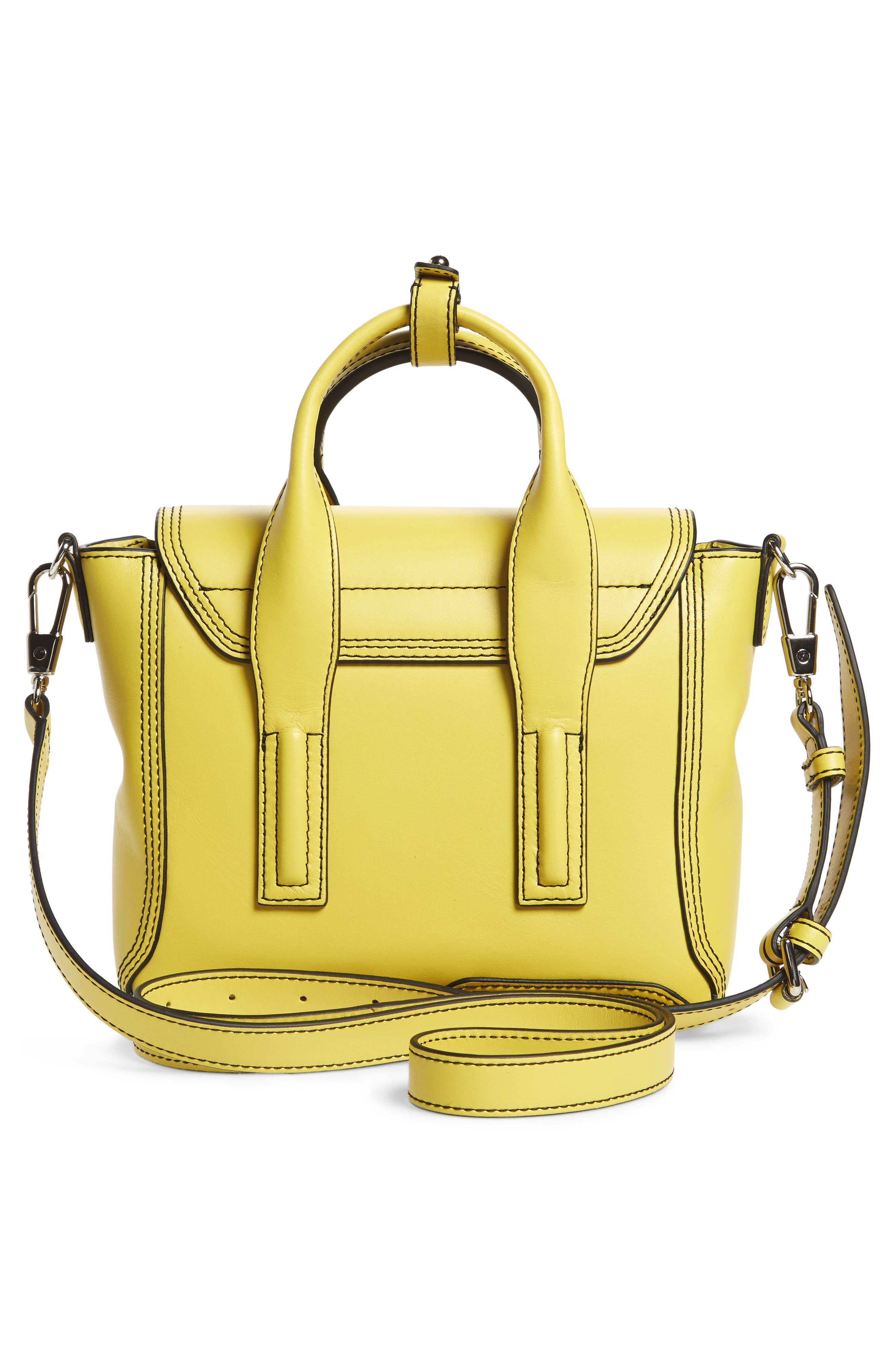 Mini Pashli Leather Satchel,                             Alternate thumbnail 3, color,                             Chartreuse