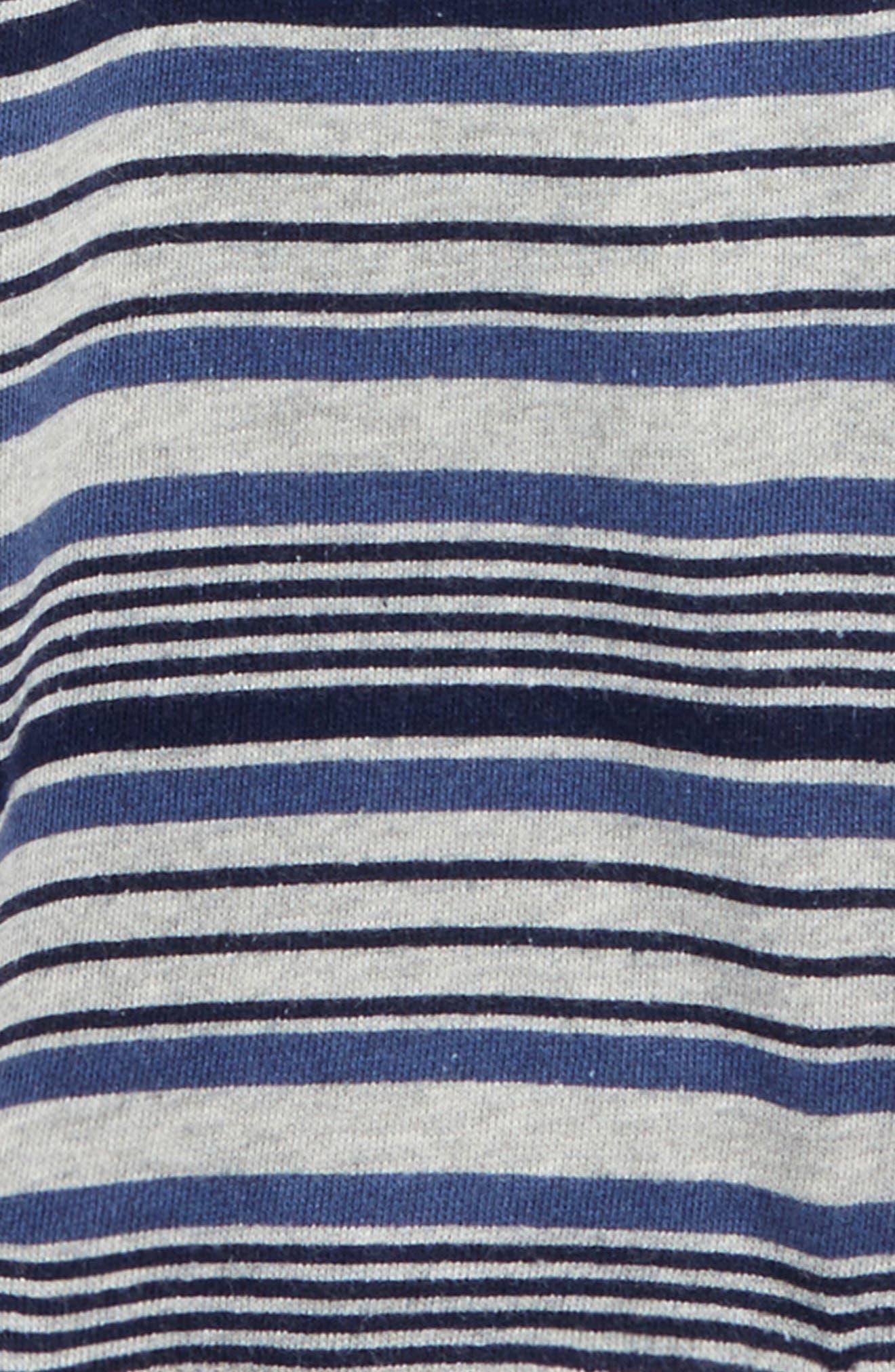 Henley Shirt & Knit Shorts Set,                             Alternate thumbnail 2, color,                             Indigo Sky