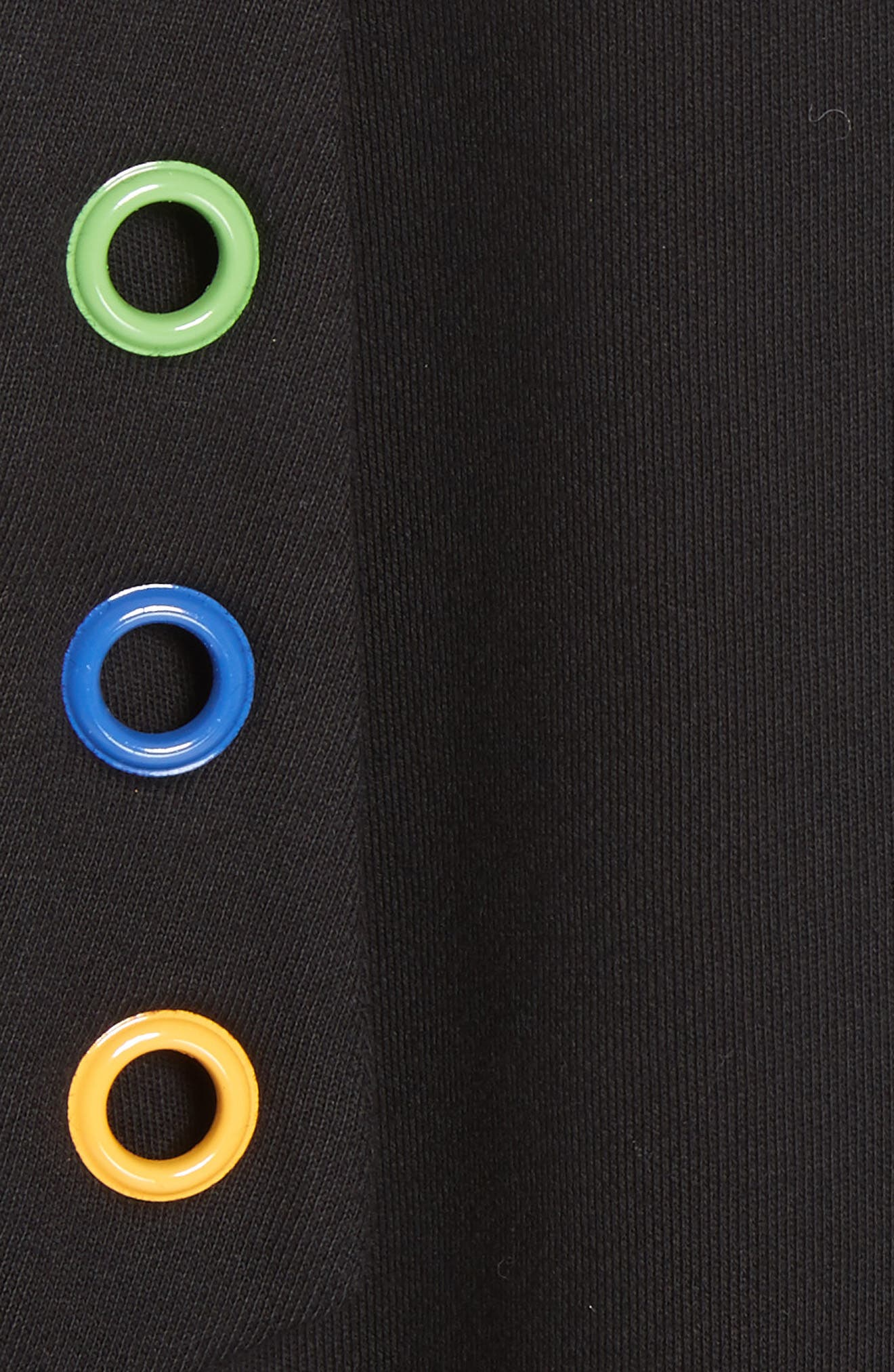 Christian Riese Lassen Sweatshirt Dress,                             Alternate thumbnail 5, color,                             Black