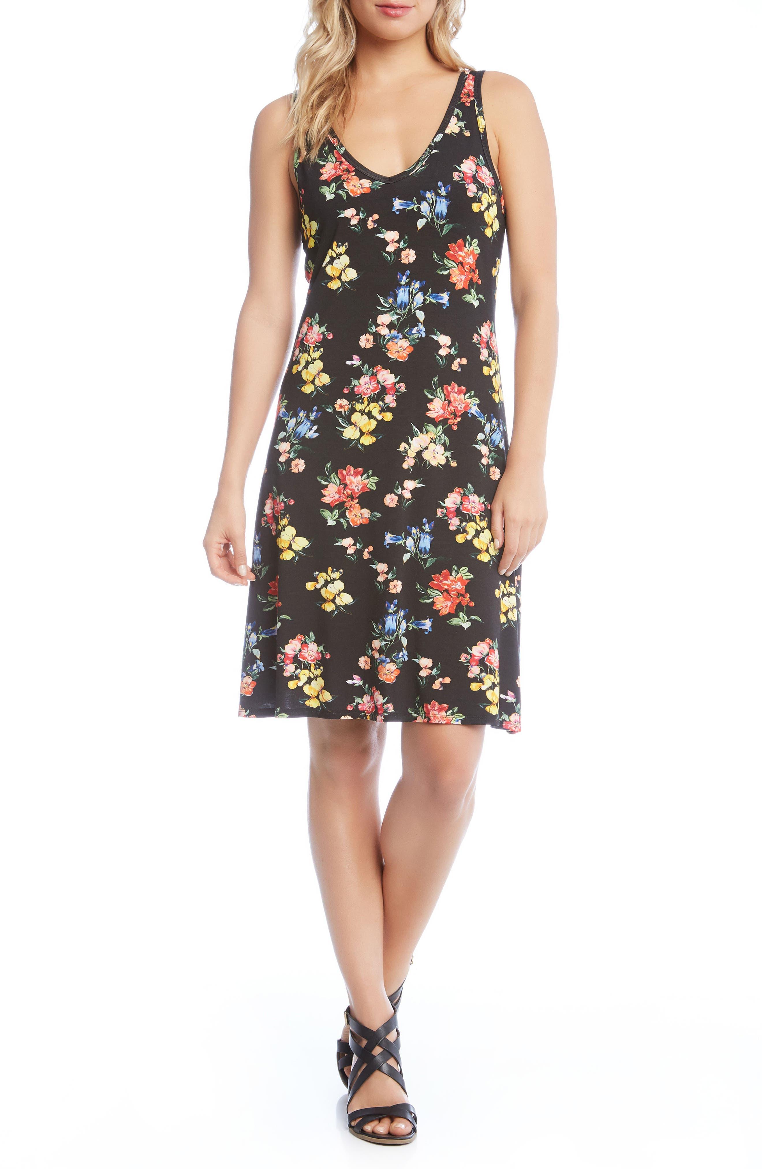 Brigitte V-Neck Dress,                             Main thumbnail 1, color,                             Floral