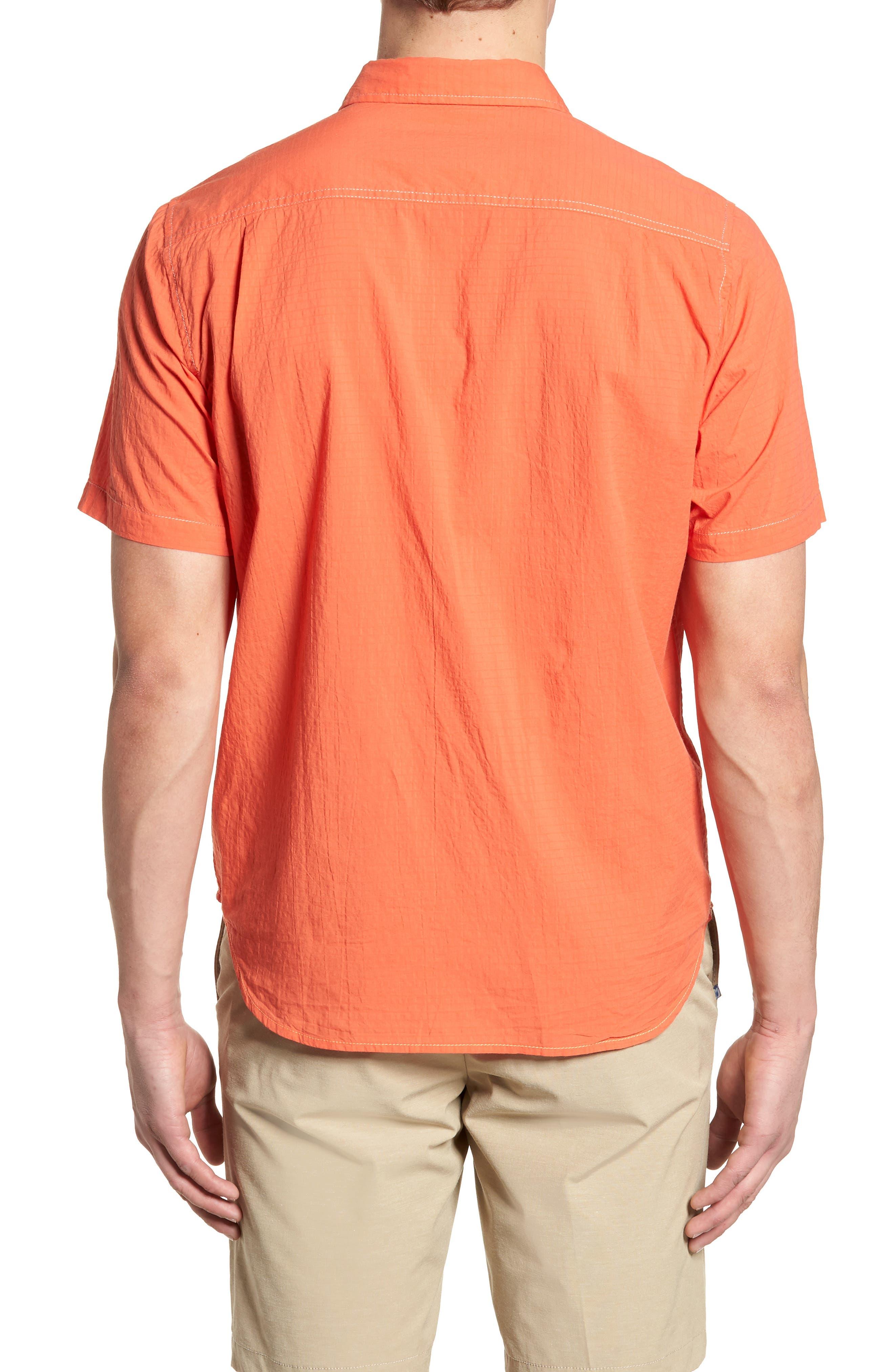 The Salvatore Standard Fit Sport Shirt,                             Alternate thumbnail 2, color,                             Burnt Coral