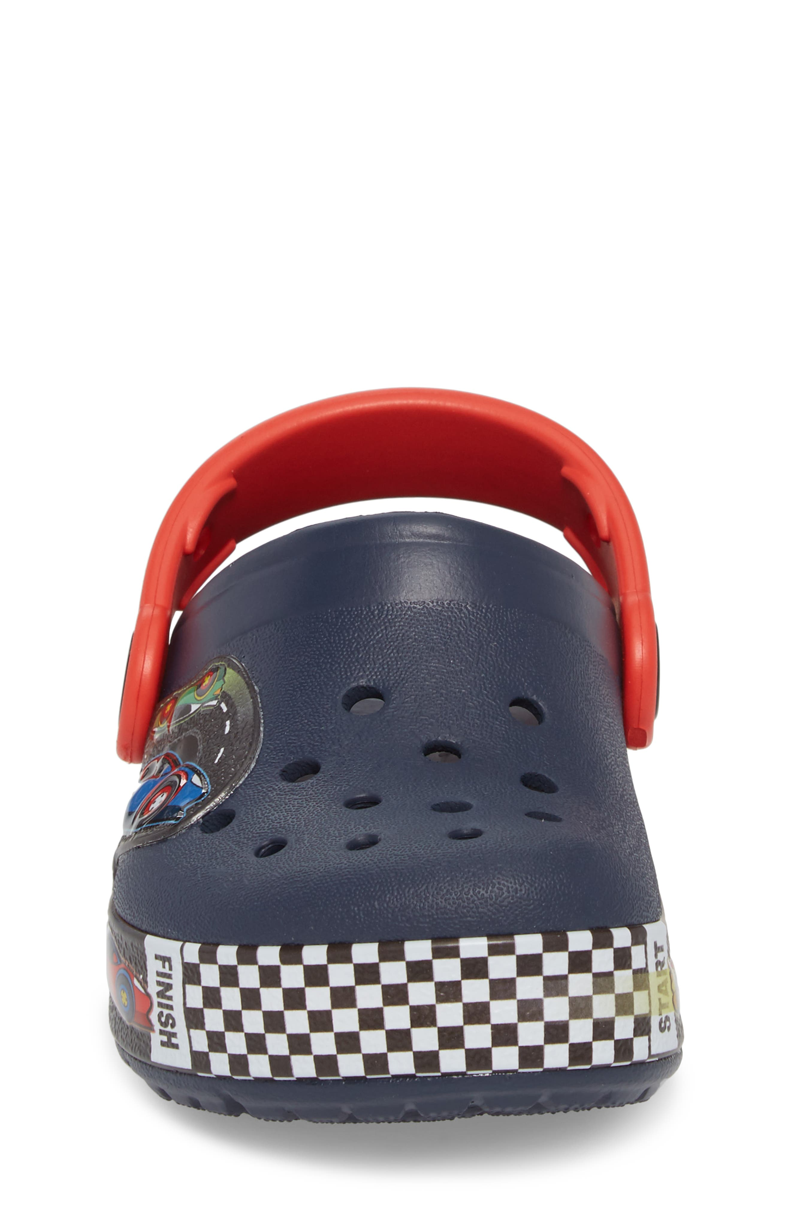 Crocband Fun Lab Light-Up Slip-On,                             Alternate thumbnail 4, color,                             Navy