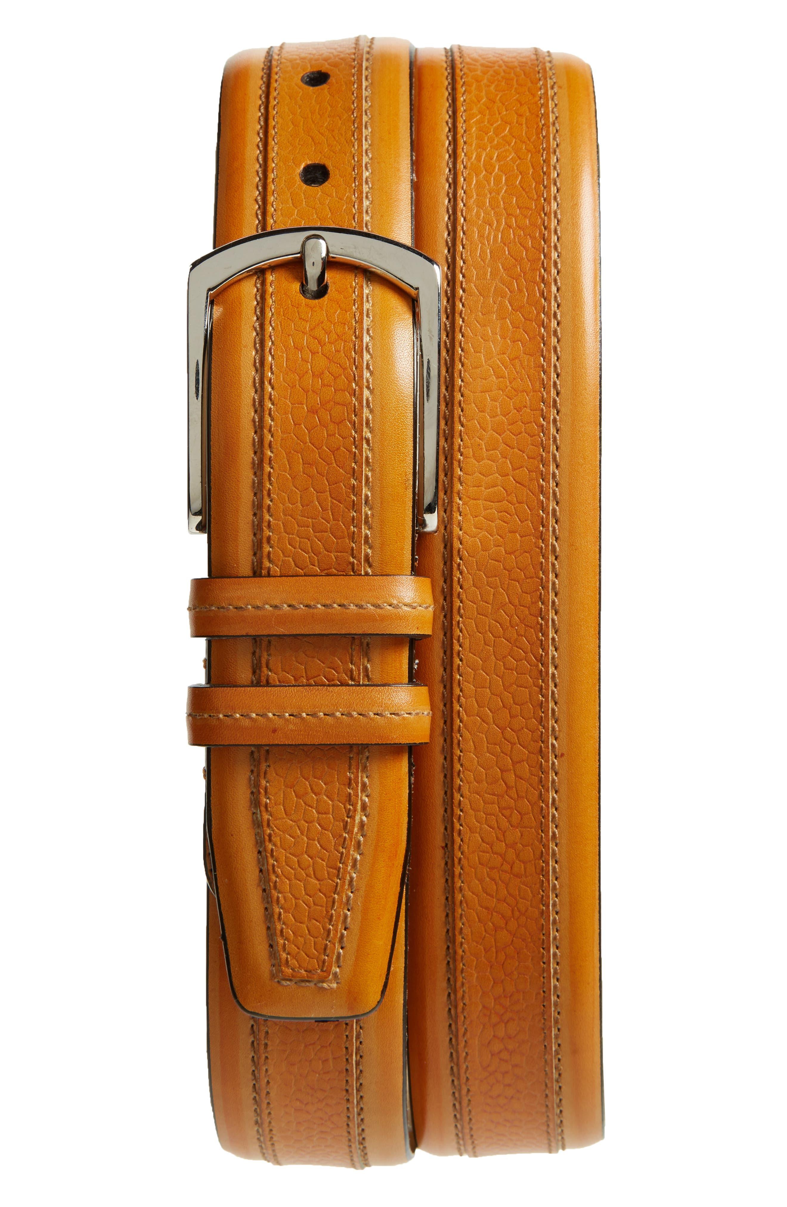 Mezlan Palma Leather Belt
