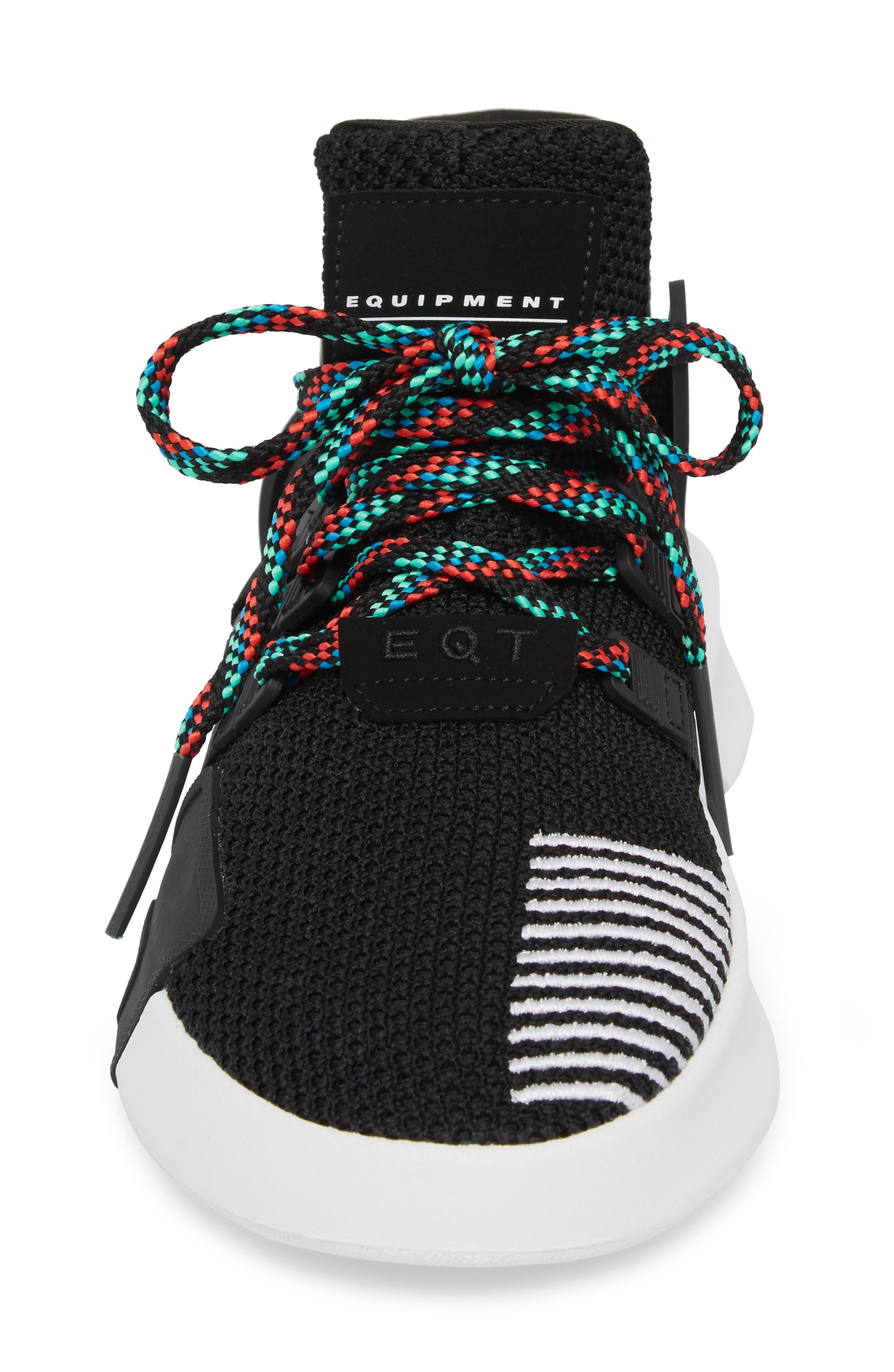EQT Basketball ADV Sneaker,                             Alternate thumbnail 4, color,                             Core Black/ Sub Green