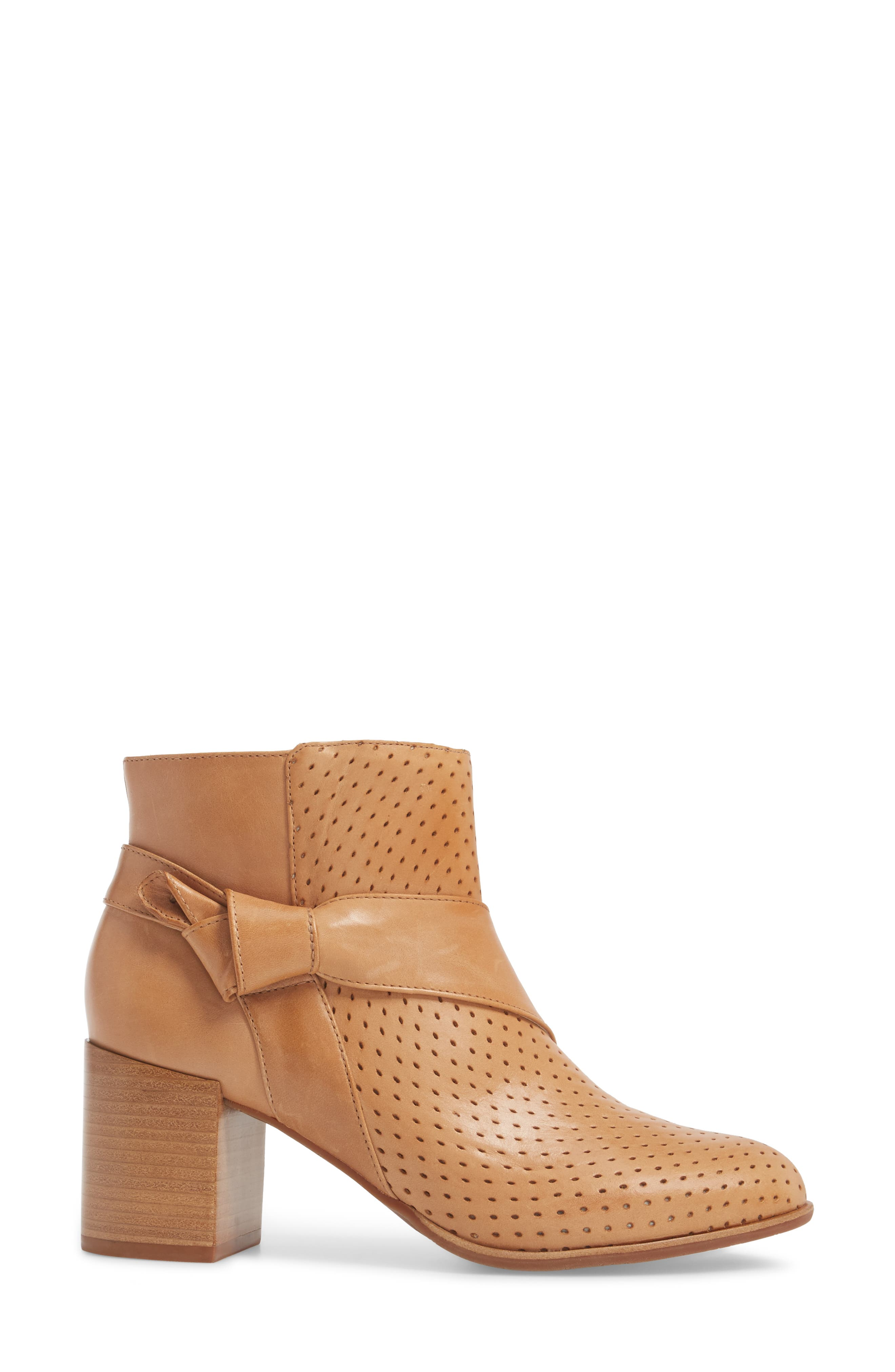 Felice Bootie,                             Alternate thumbnail 3, color,                             Tan Leather