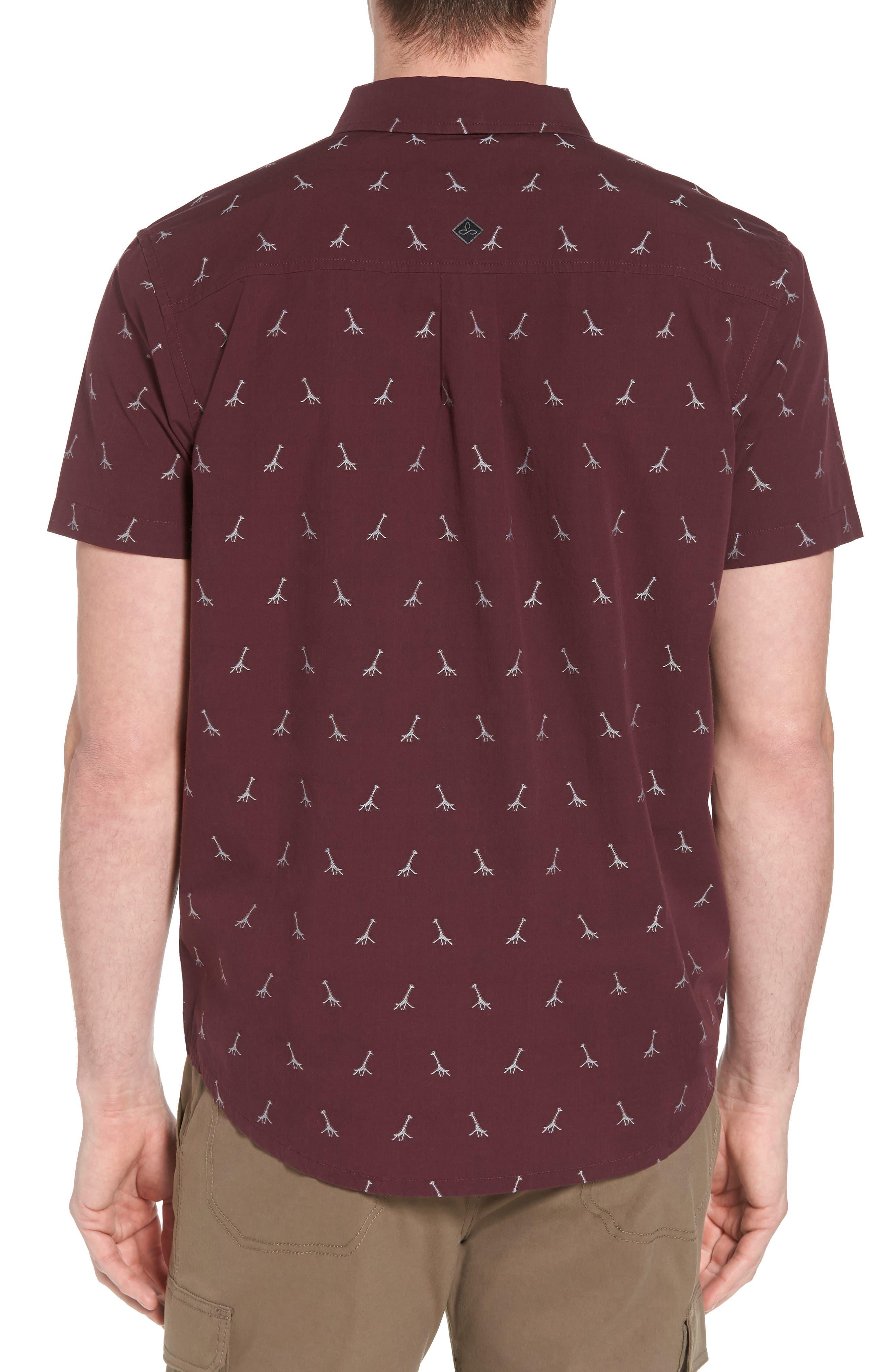 Broderick Slim Fit Short Sleeve Sport Shirt,                             Alternate thumbnail 2, color,                             Thistle