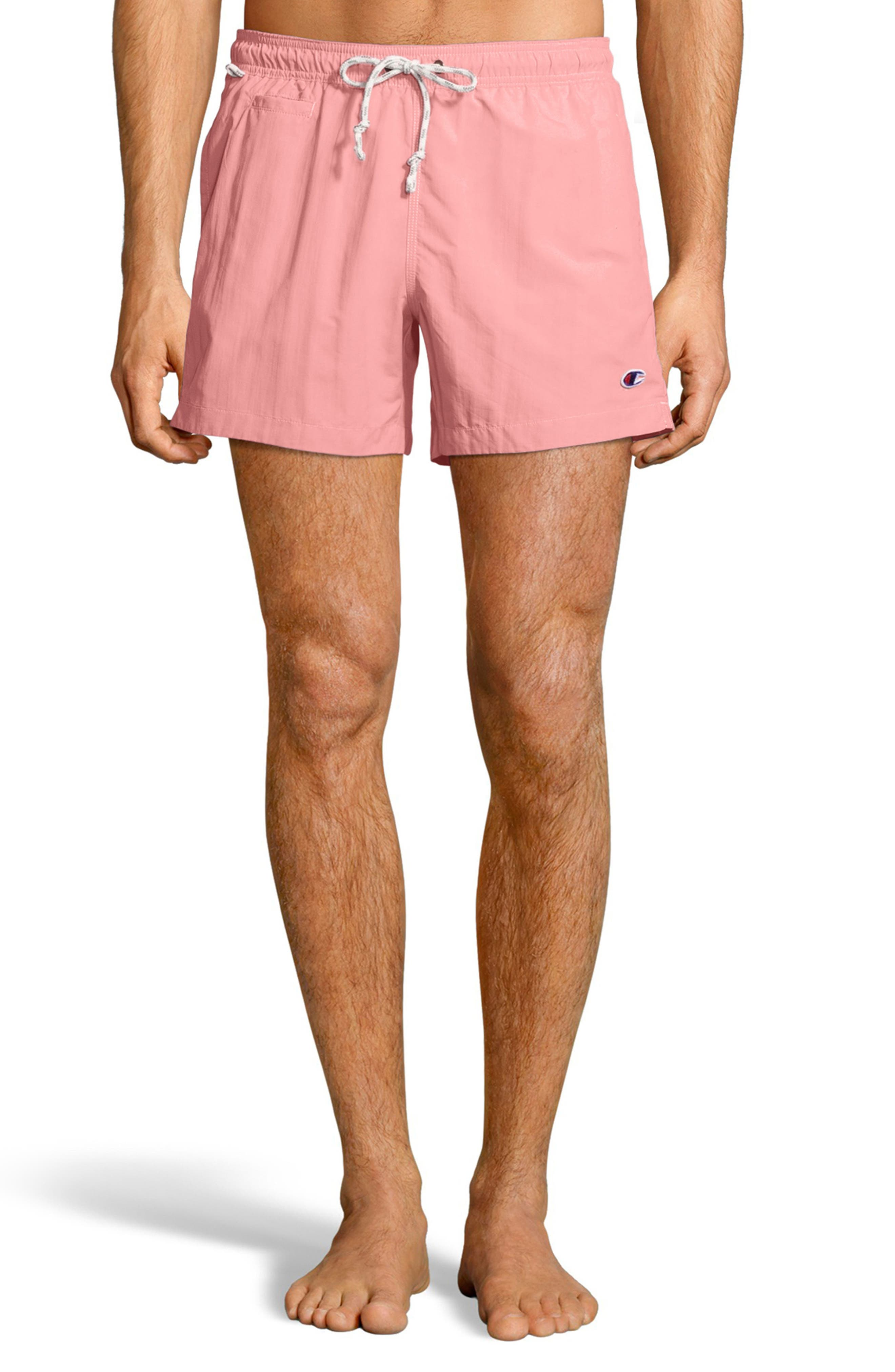 Pacific Sand Swim Trunks,                         Main,                         color, Pink Bow