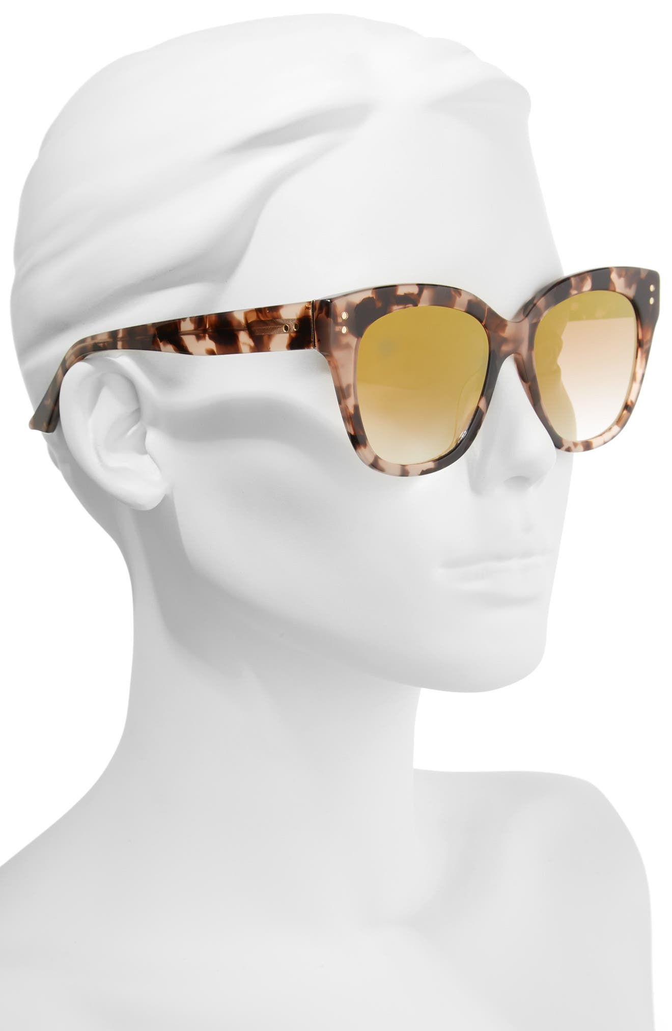 See Saw 55mm Cat Eye Sunglasses,                             Alternate thumbnail 2, color,                             Dogwood- Gold