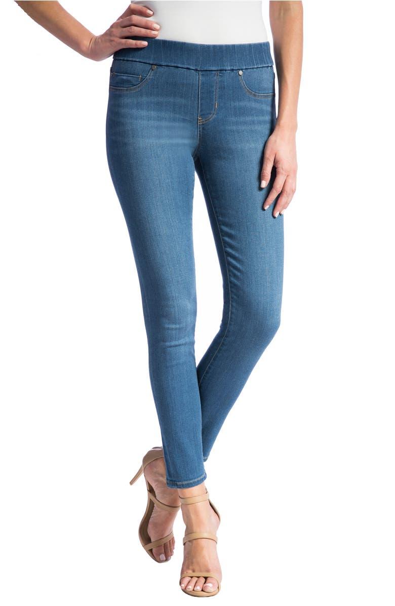 Jeans Company High Rise Stretch Denim Ankle Leggings, Main, color, Coronado Mid