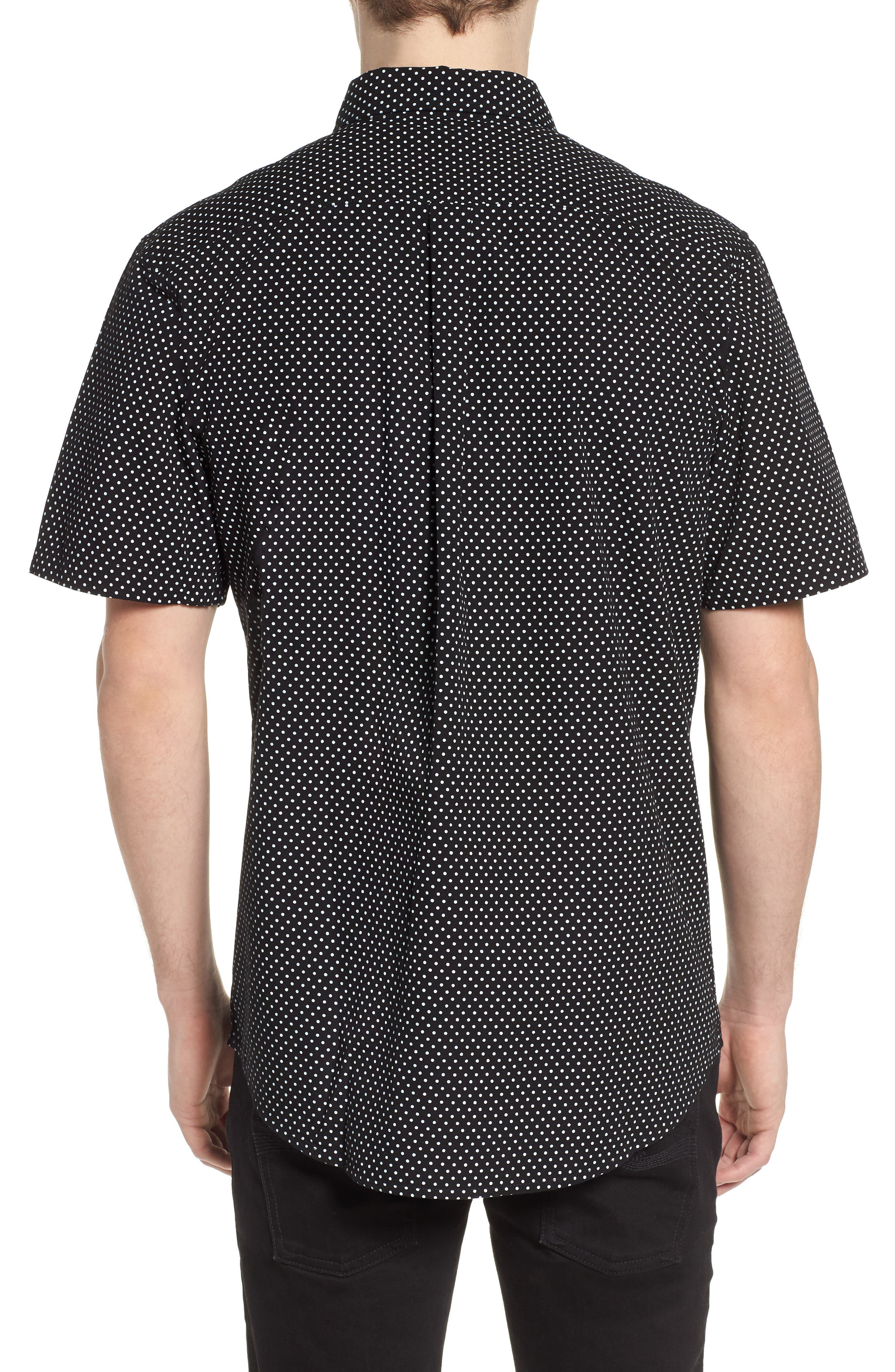 Brozwell Short Sleeve Shirt,                             Alternate thumbnail 2, color,                             Black Multi