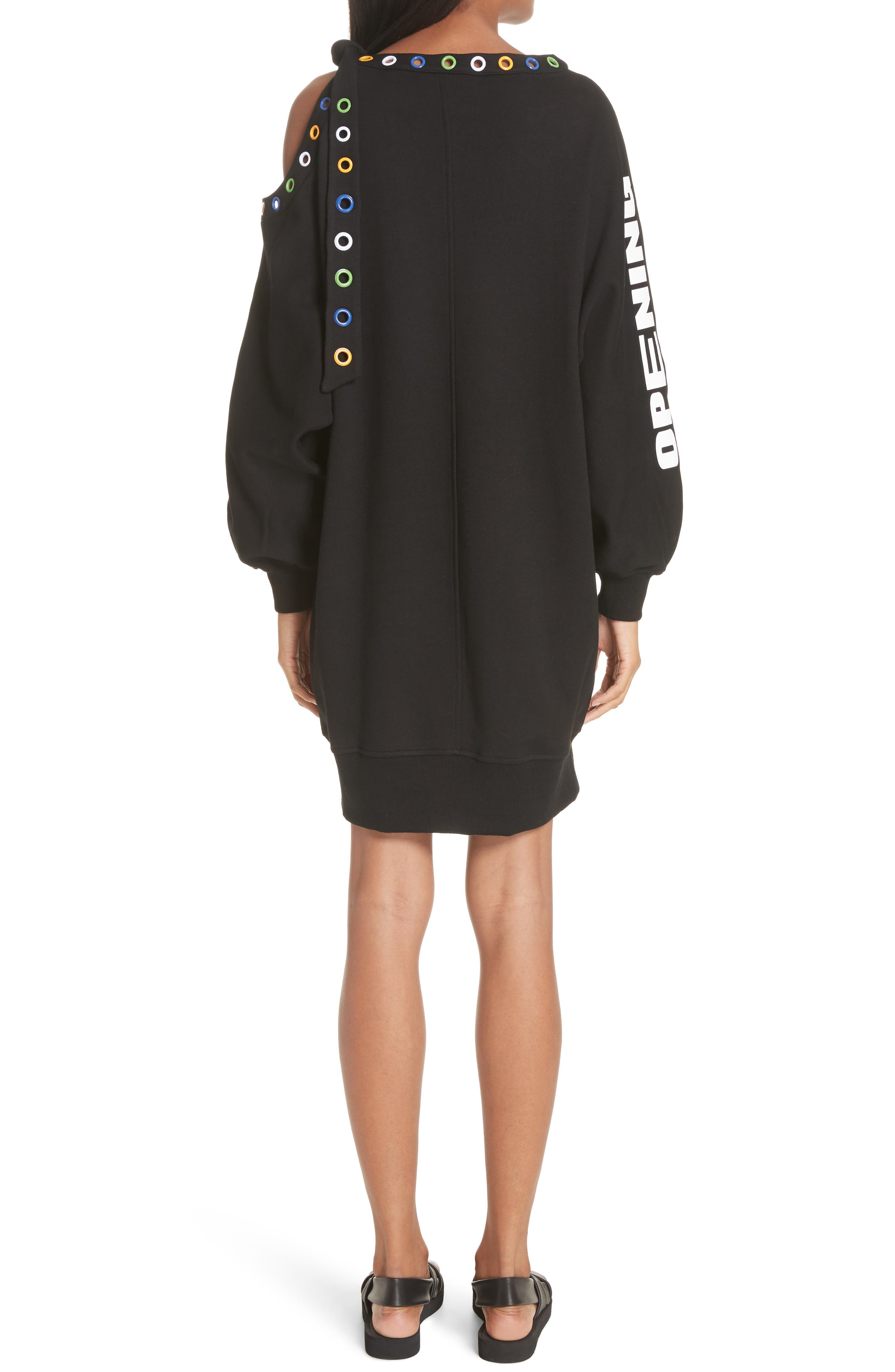 Christian Riese Lassen Sweatshirt Dress,                             Alternate thumbnail 2, color,                             Black