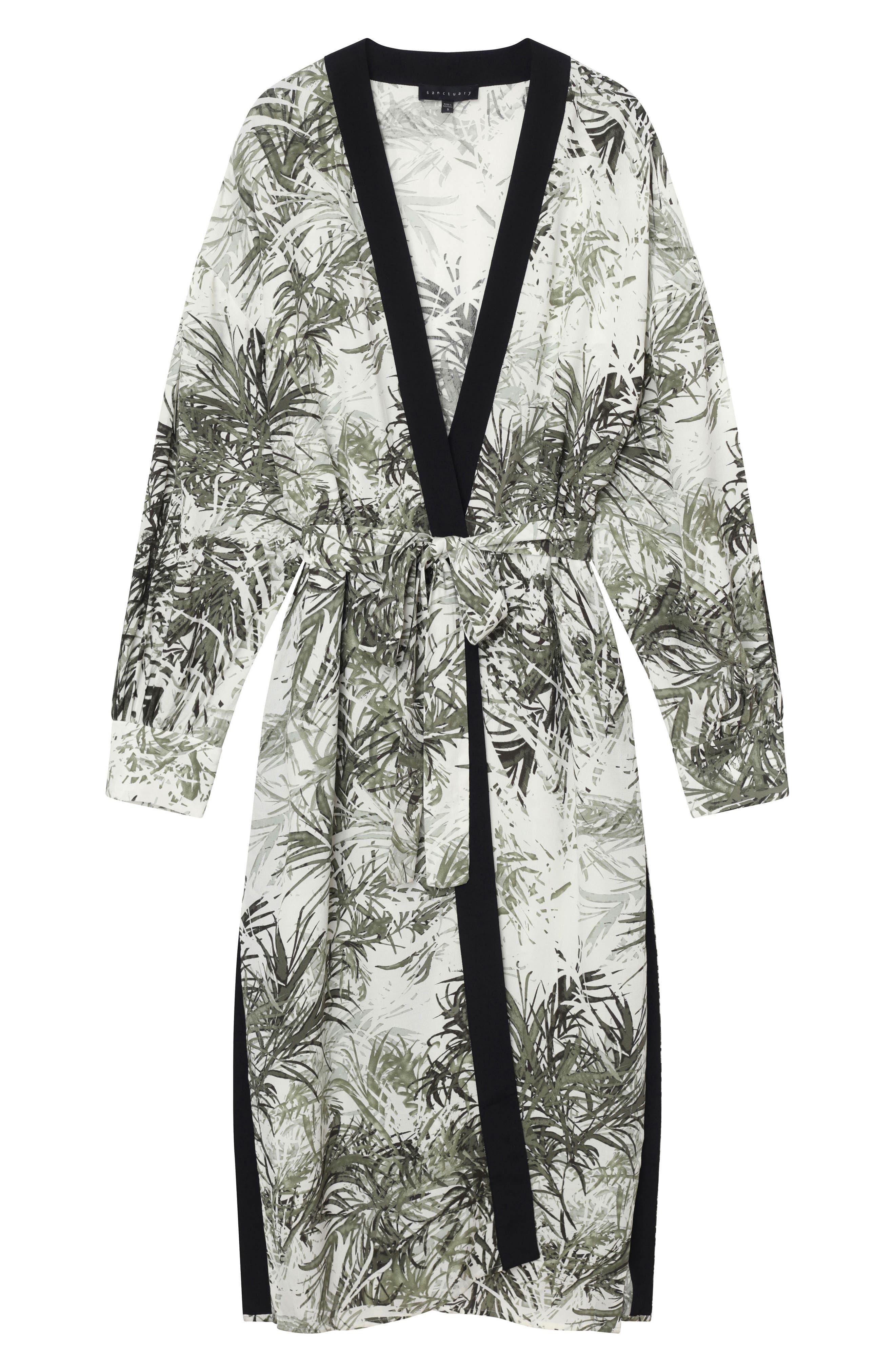 Calico Print Kimono,                             Alternate thumbnail 4, color,                             Tiki Palm