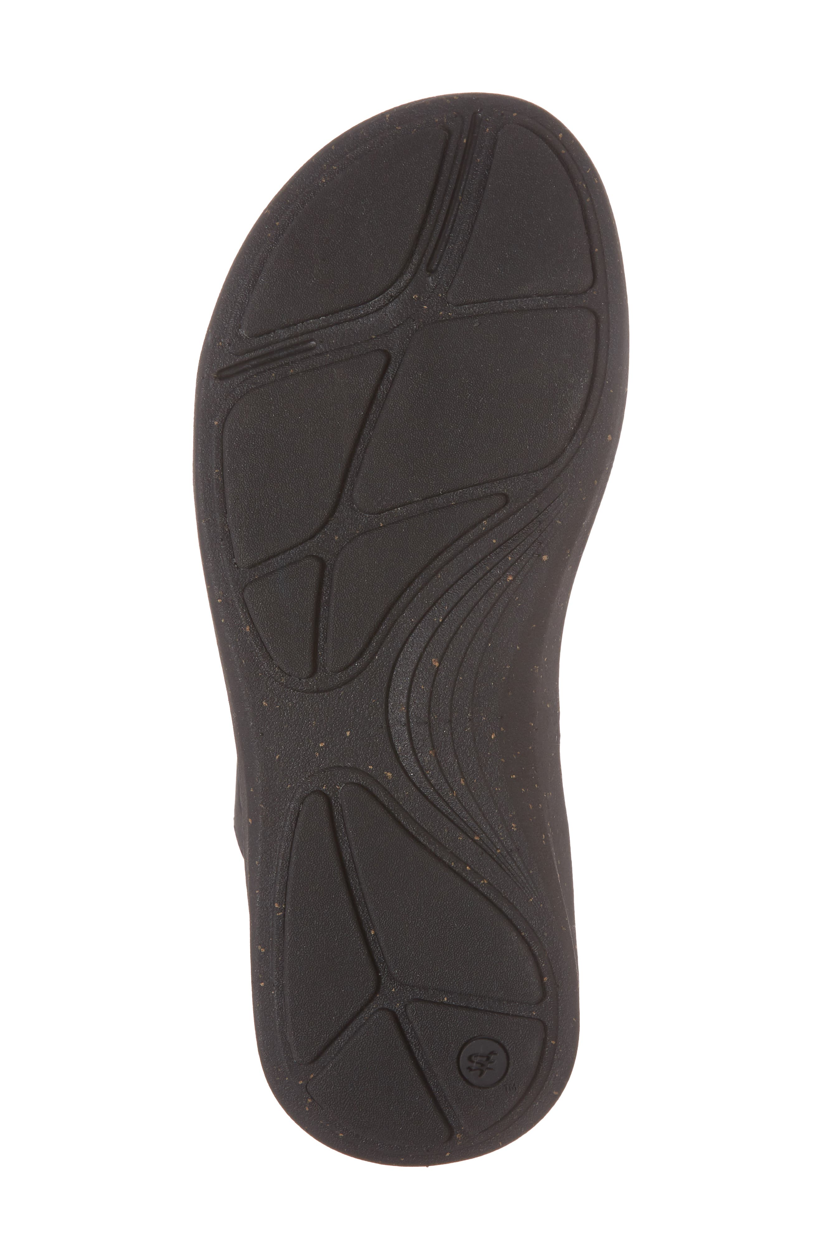 Reyes Slide Sandal,                             Alternate thumbnail 6, color,                             Black Leather