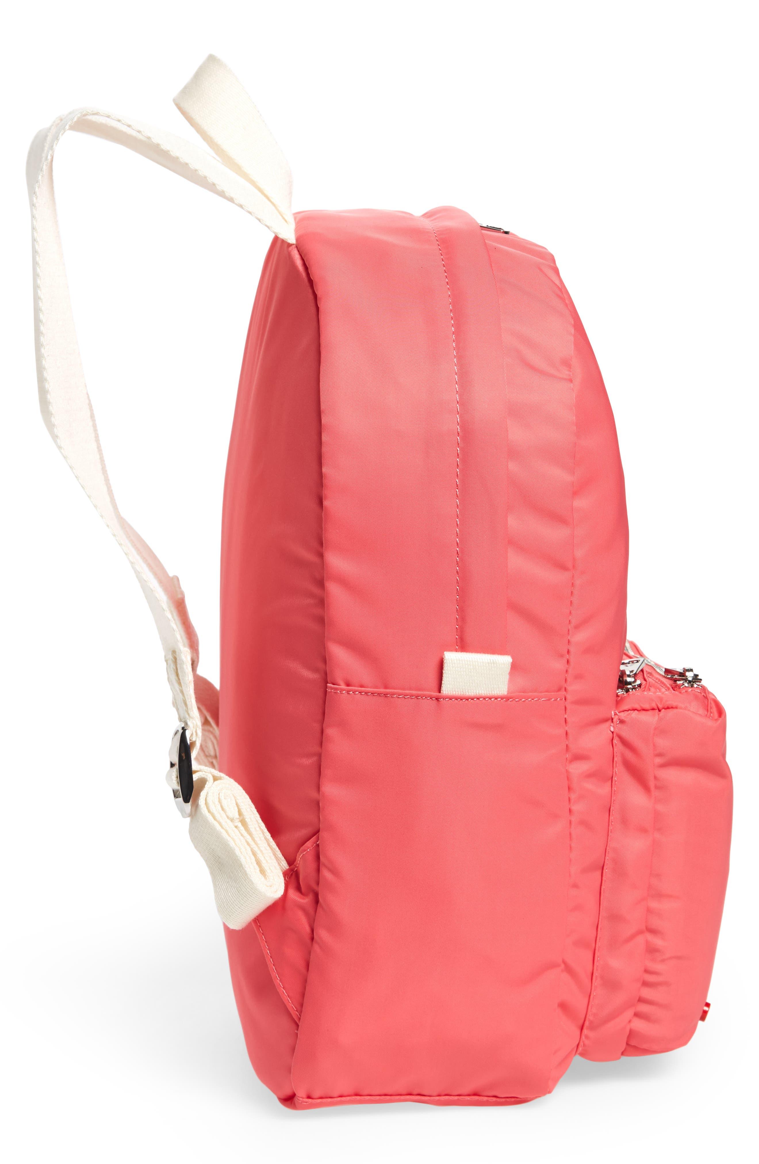 The Heights Mini Lorimer Nylon Backpack,                             Alternate thumbnail 5, color,                             Poppy