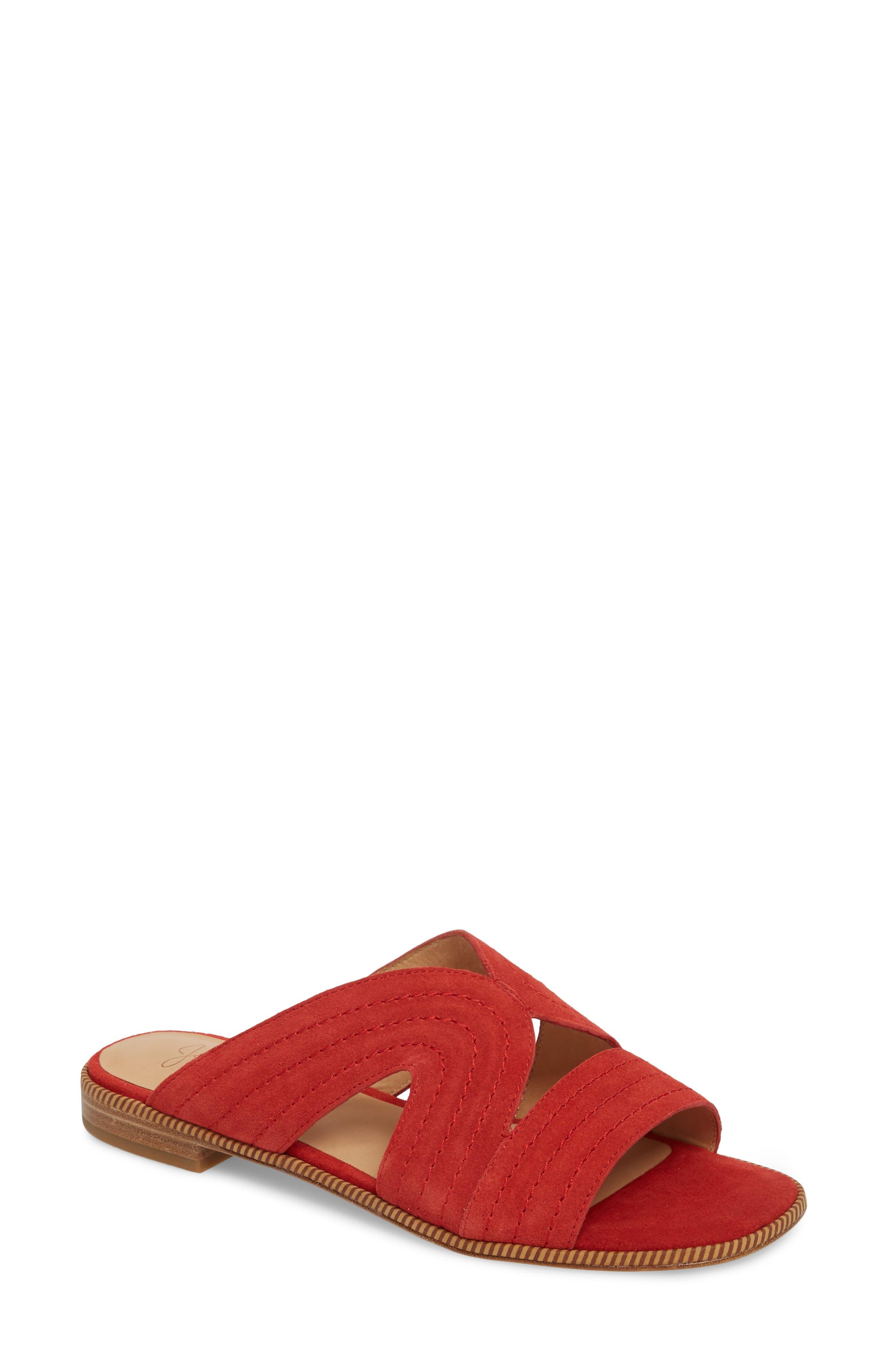 Paetyn Slide Sandal,                             Main thumbnail 1, color,                             Red