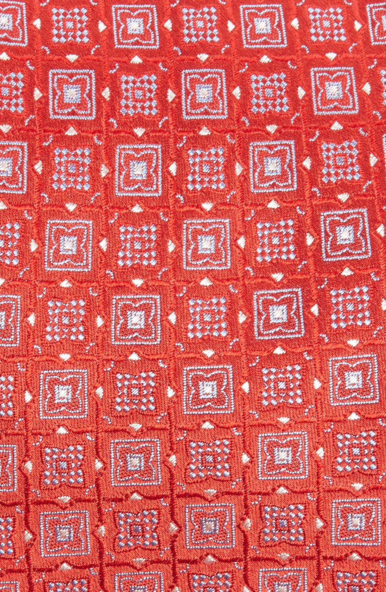 Geometric Silk Tie,                             Alternate thumbnail 2, color,                             Red/ Blue