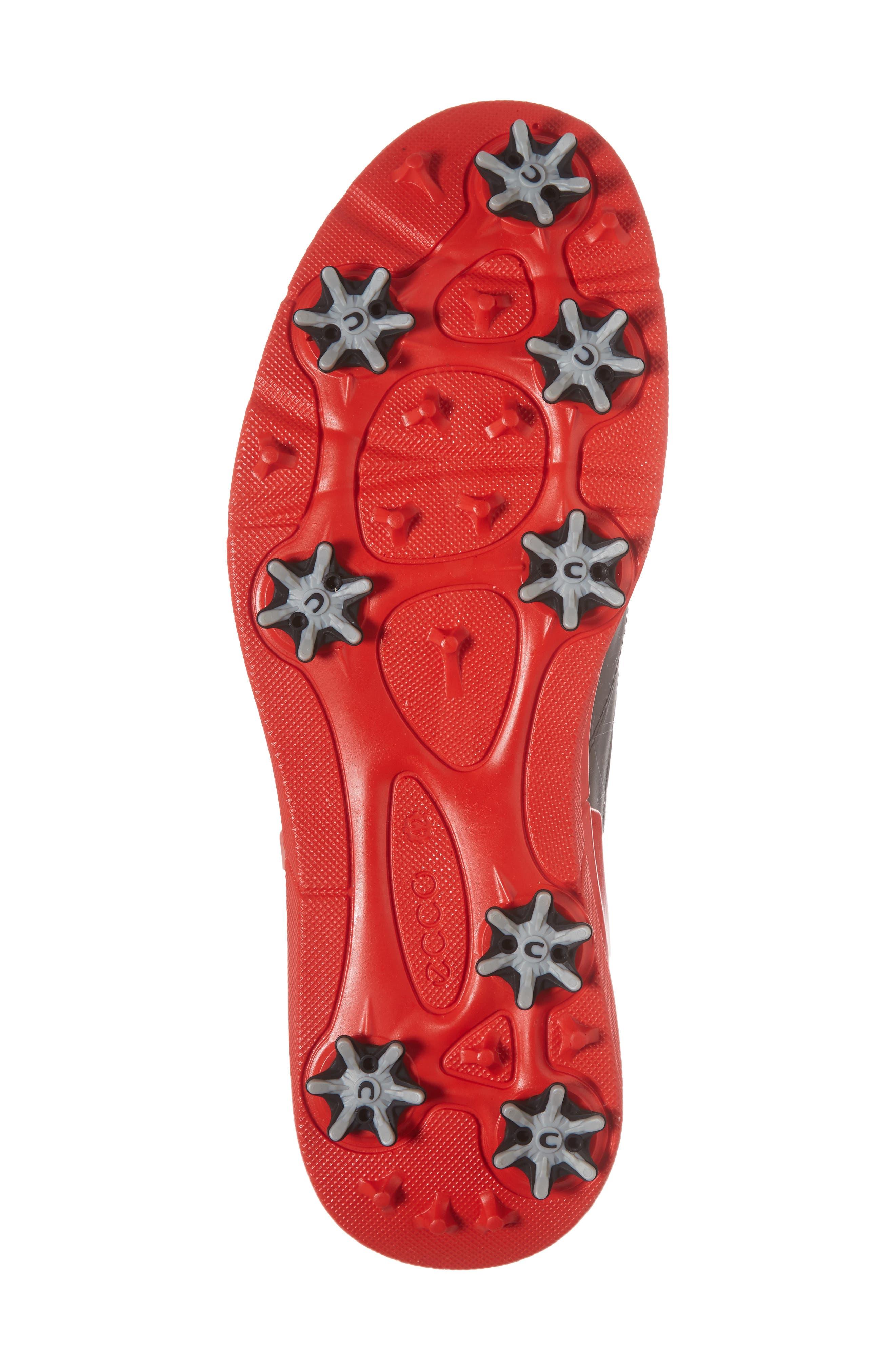 Base One Golf Shoe,                             Alternate thumbnail 6, color,                             Black/ Scarlet Leather
