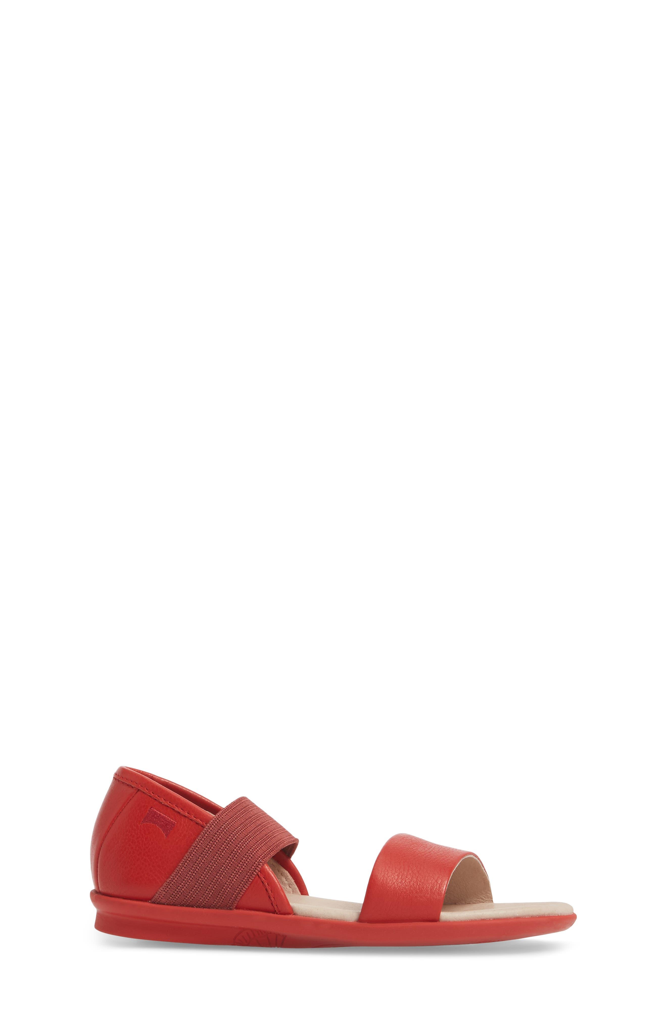 Right Sandal,                             Alternate thumbnail 3, color,                             Red