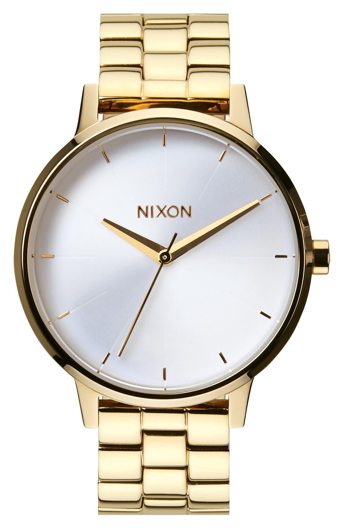 'The Kensington' Bracelet Watch, 37mm,                         Main,                         color, Gold/ White