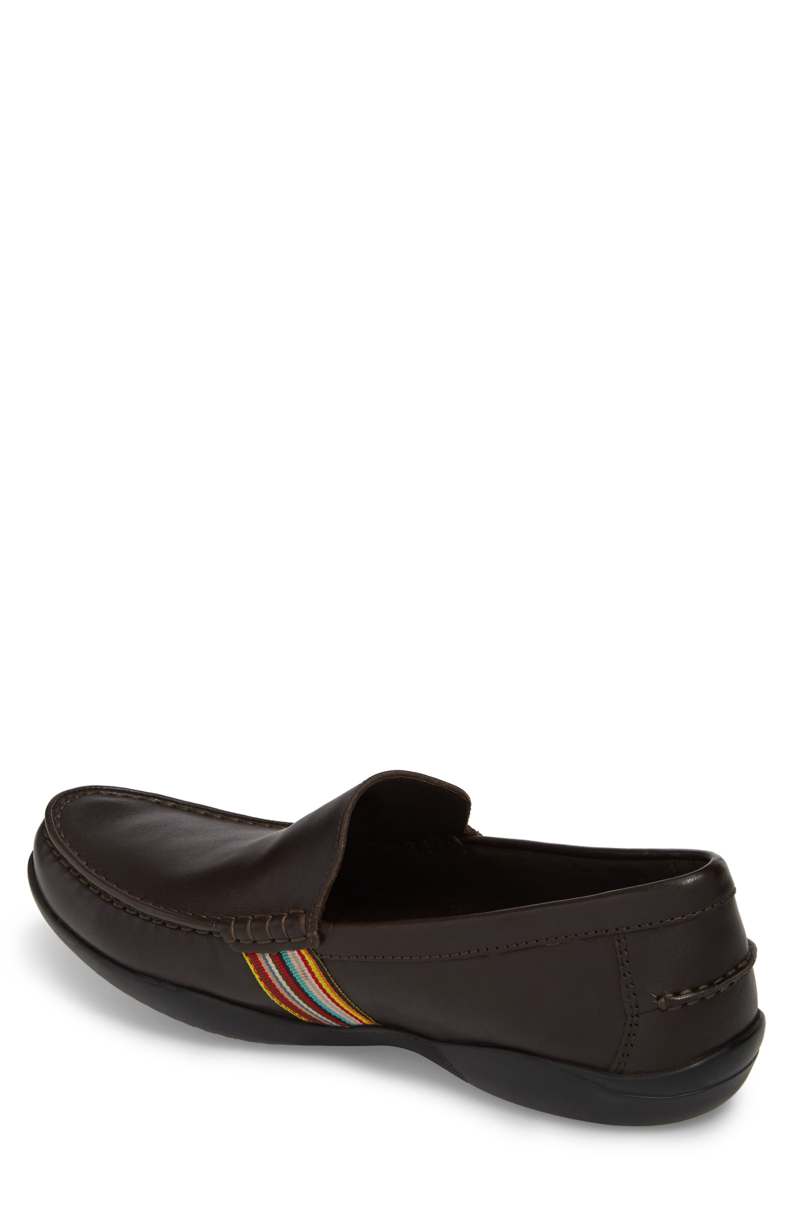 Idris Banded Loafer,                             Alternate thumbnail 2, color,                             Dark Brown Leather