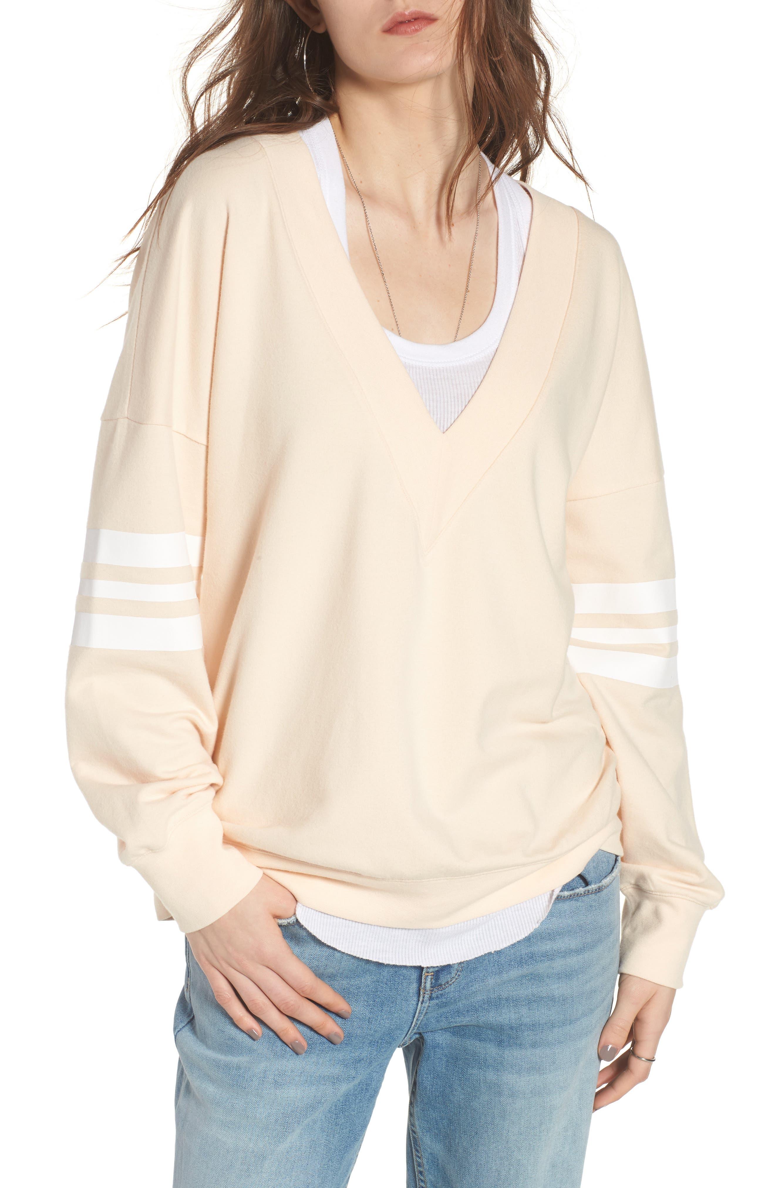 Treasure & Bond Sport V-Neck Sweatshirt
