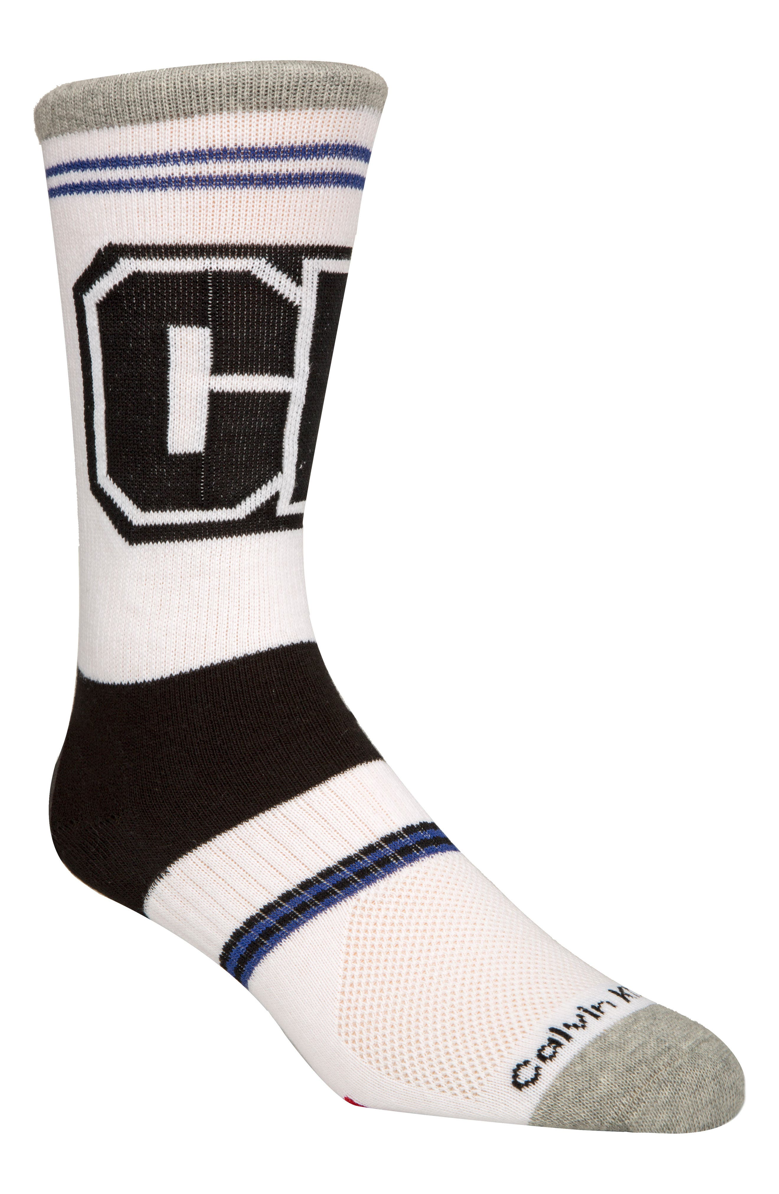Bold Socks,                             Main thumbnail 1, color,                             White