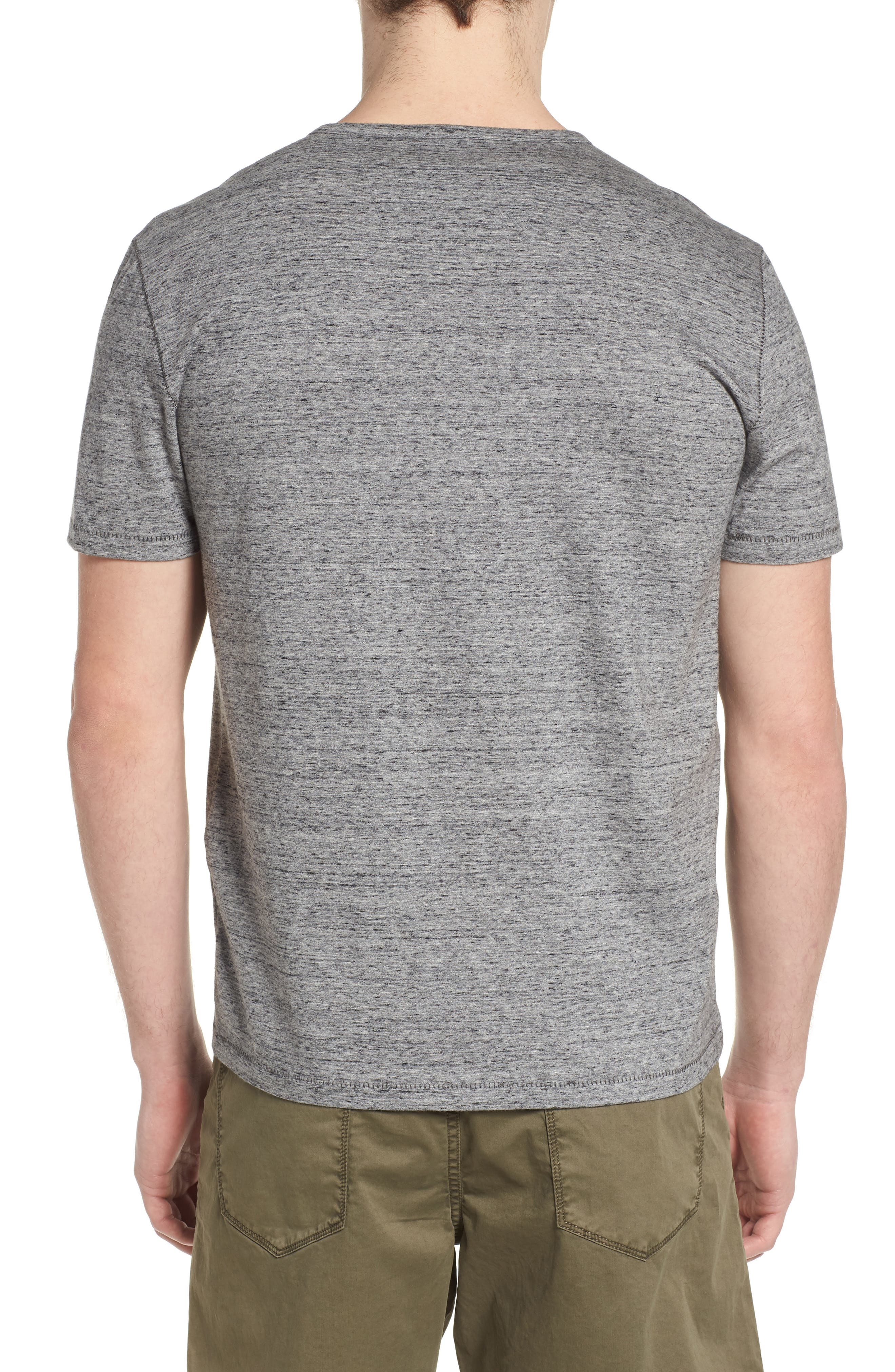 Regular Fit Henley,                             Alternate thumbnail 2, color,                             Mercury Grey