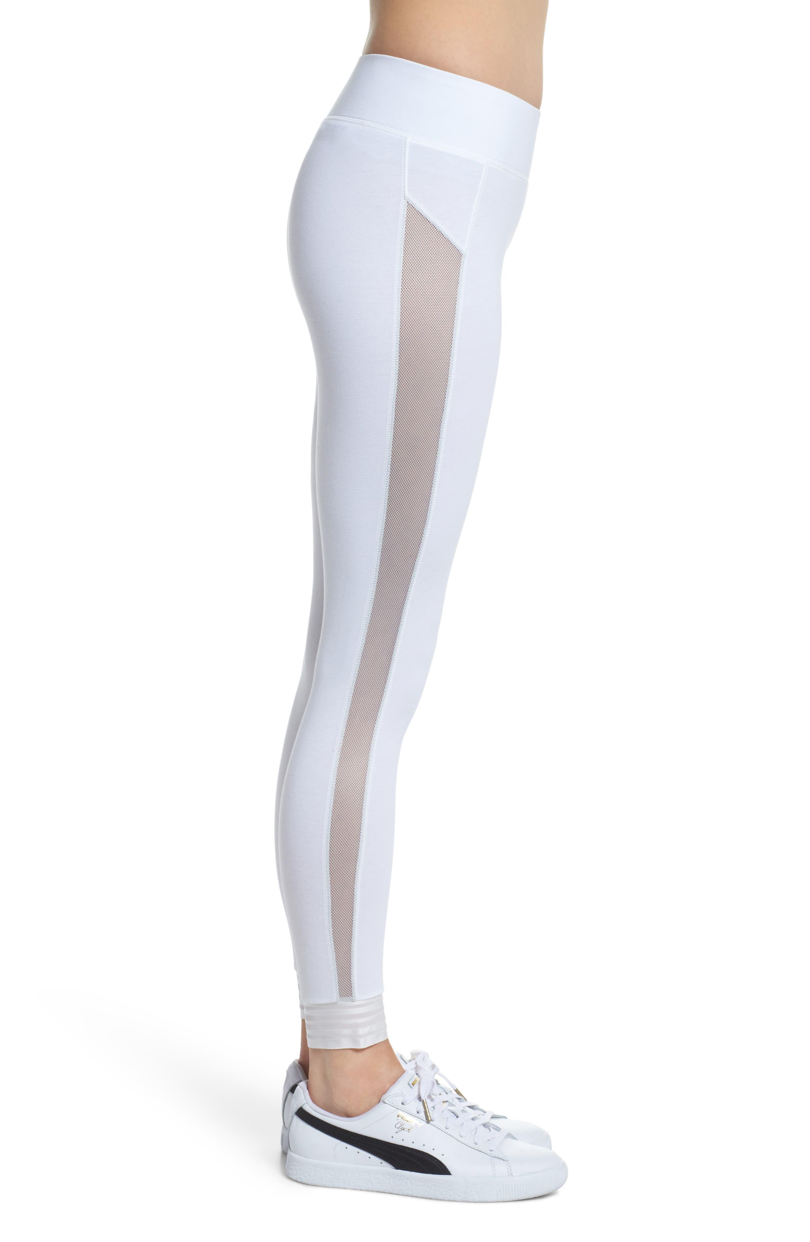 T7 Leggings,                             Alternate thumbnail 3, color,                             Puma White