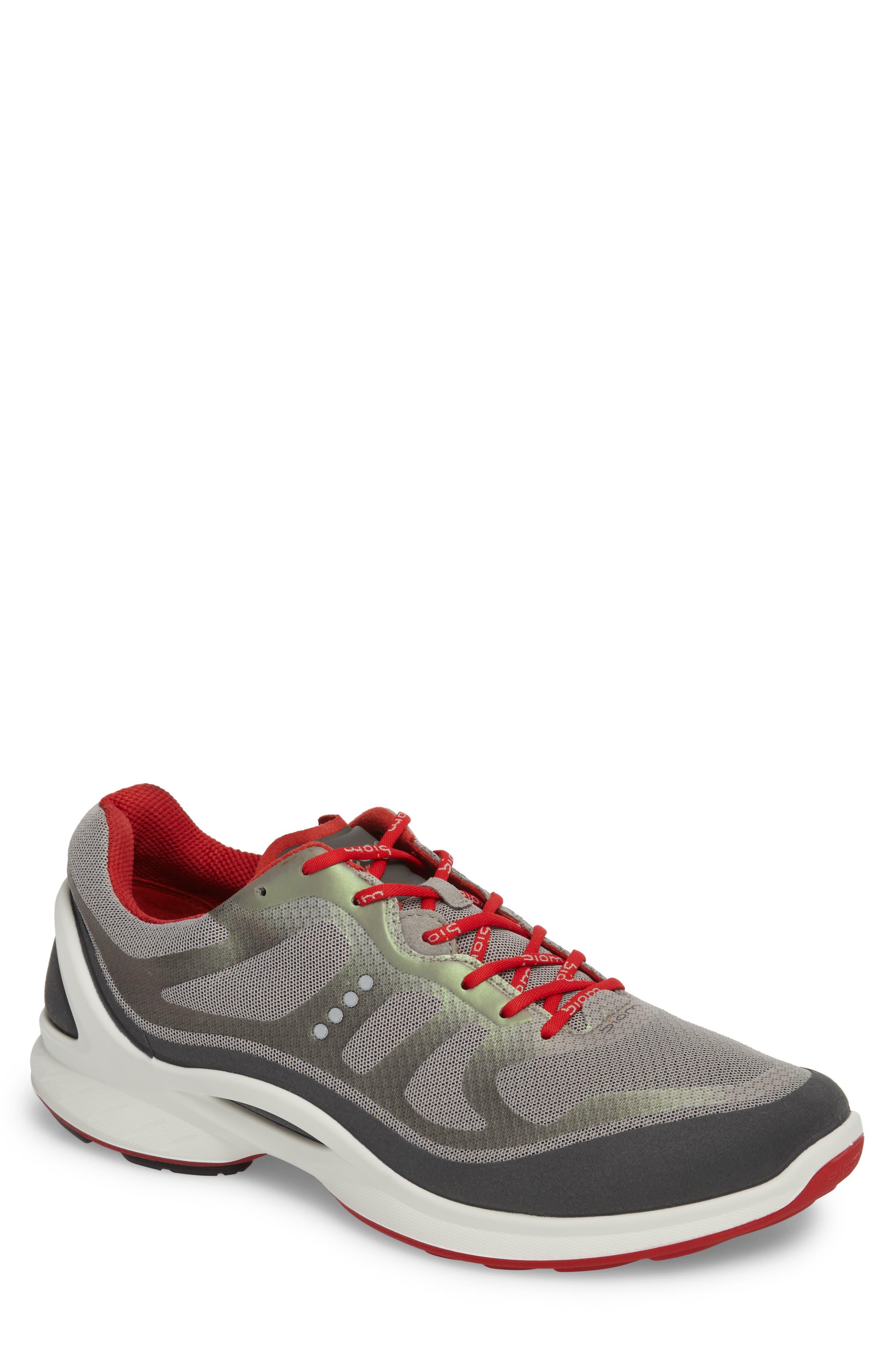 BIOM Fjuel Tie Sneaker,                             Main thumbnail 1, color,                             Dark Shadow/ Wild Dove Textile