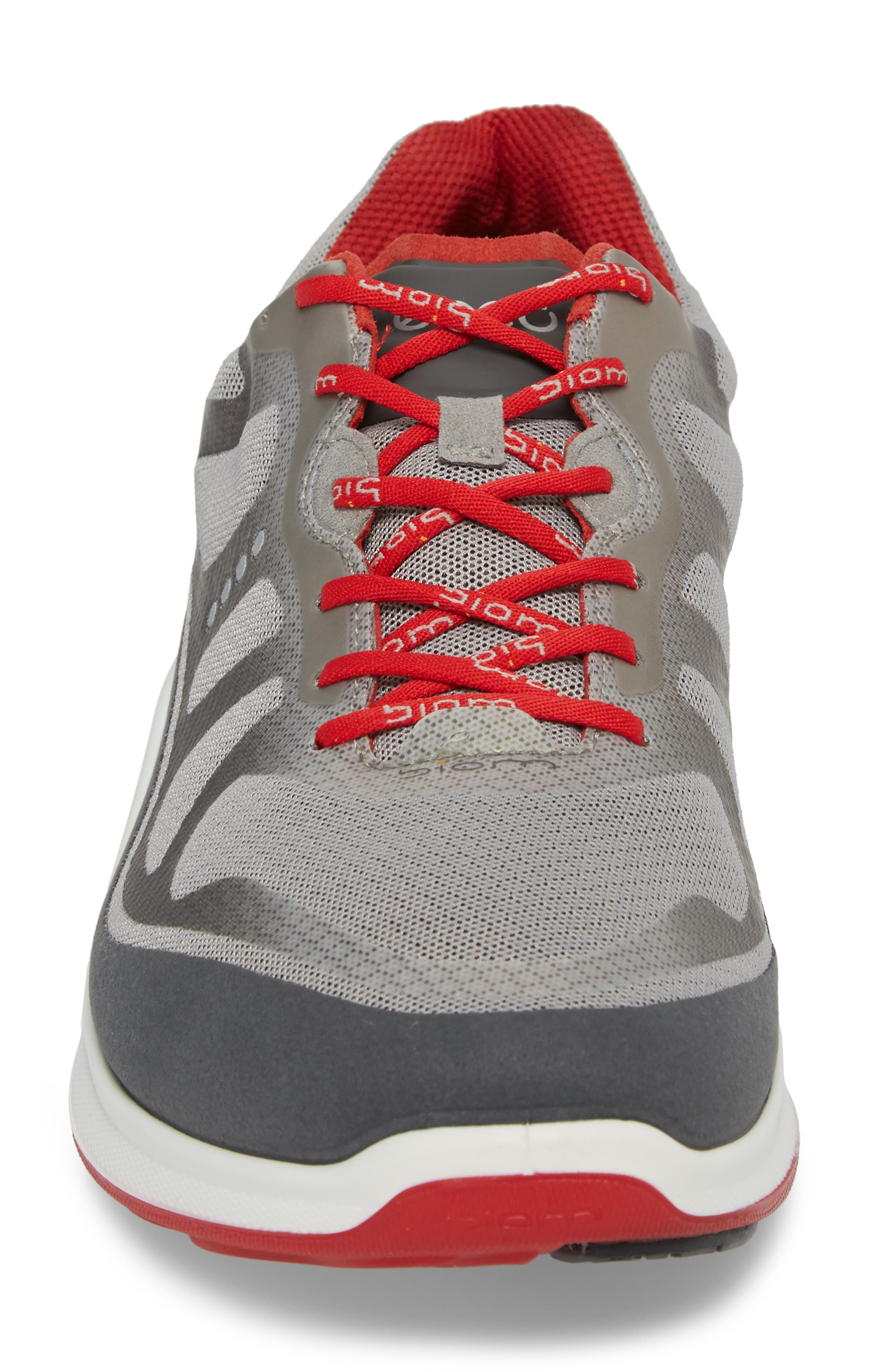 BIOM Fjuel Tie Sneaker,                             Alternate thumbnail 4, color,                             Dark Shadow/ Wild Dove Textile