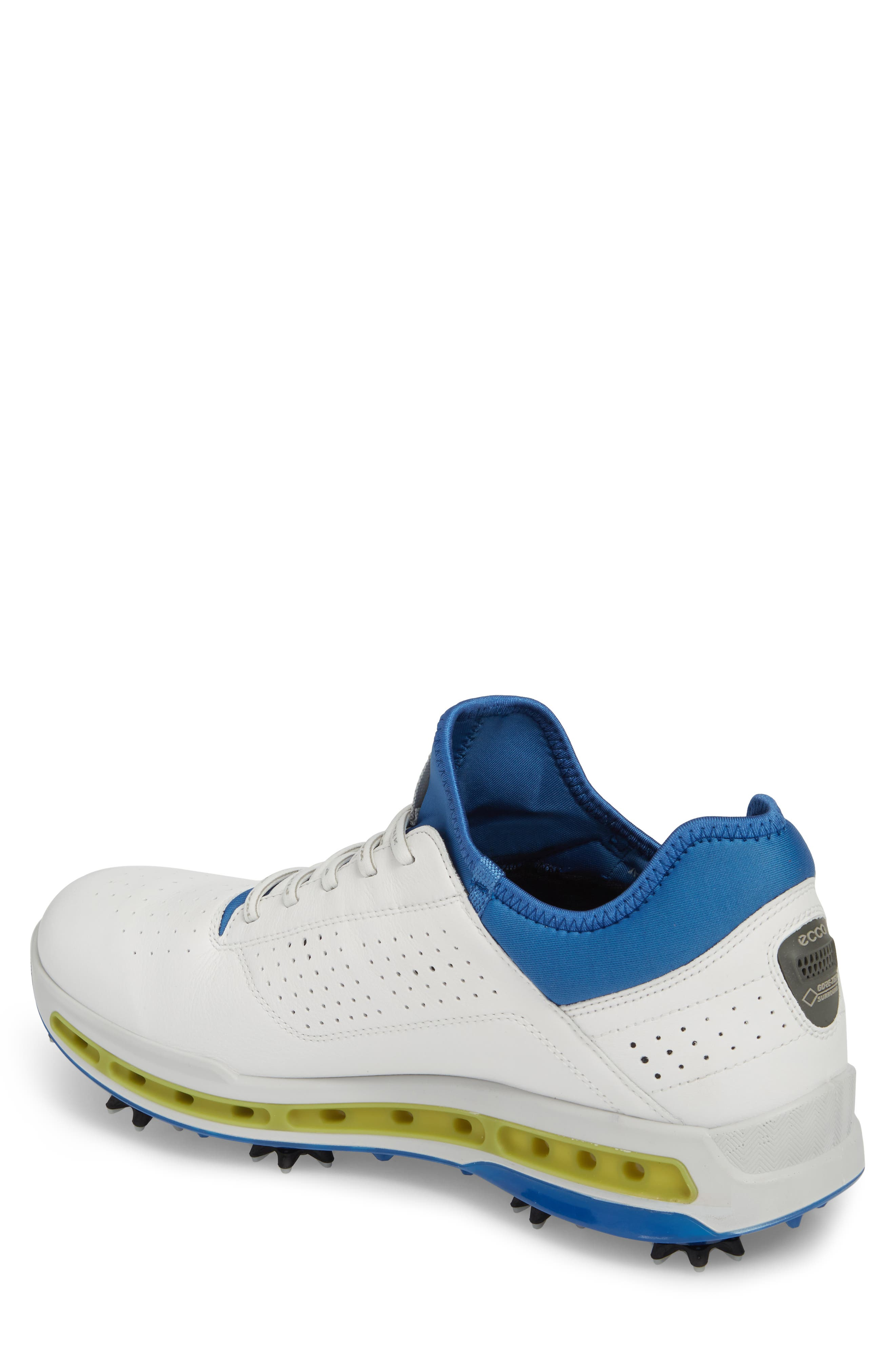 Cool 18 Gore-Tex Golf Shoe,                             Alternate thumbnail 2, color,                             White Leather