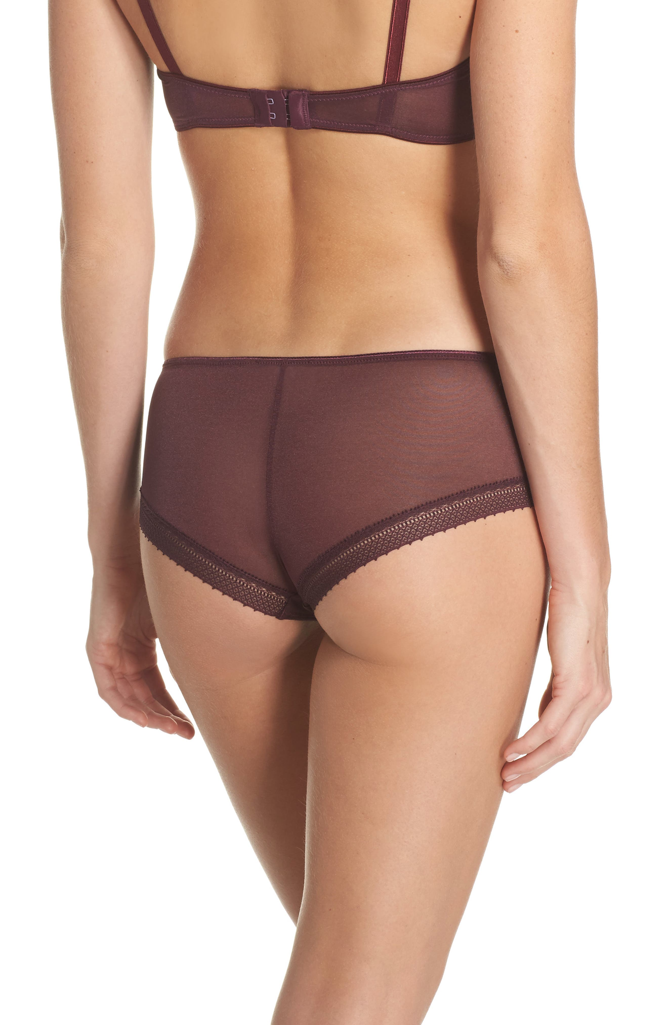 Jet Set Hipster Panties,                             Alternate thumbnail 2, color,                             Garnet