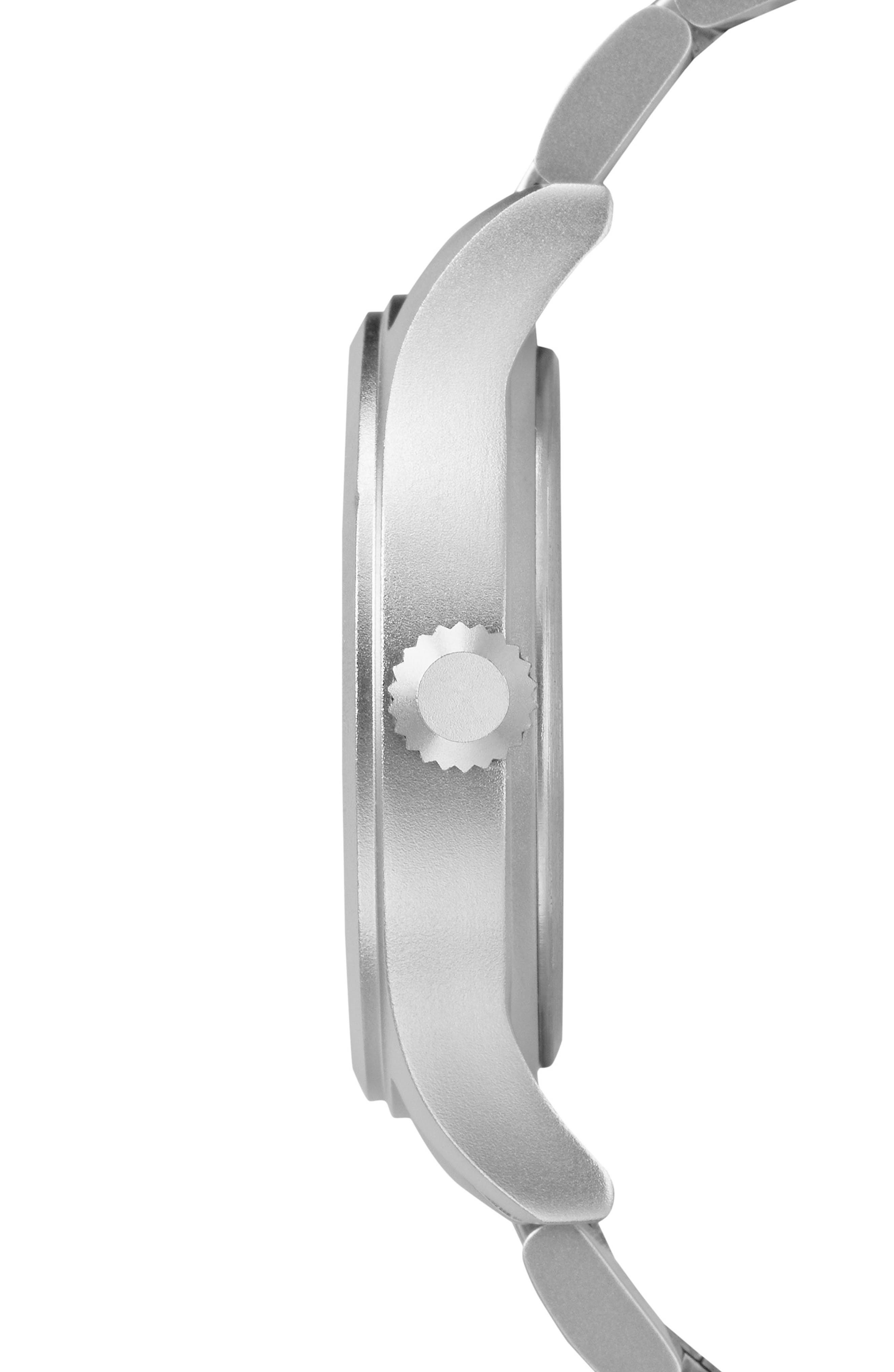 Allied Bracelet Watch, 40mm,                             Alternate thumbnail 3, color,                             Silver/ White/ Silver